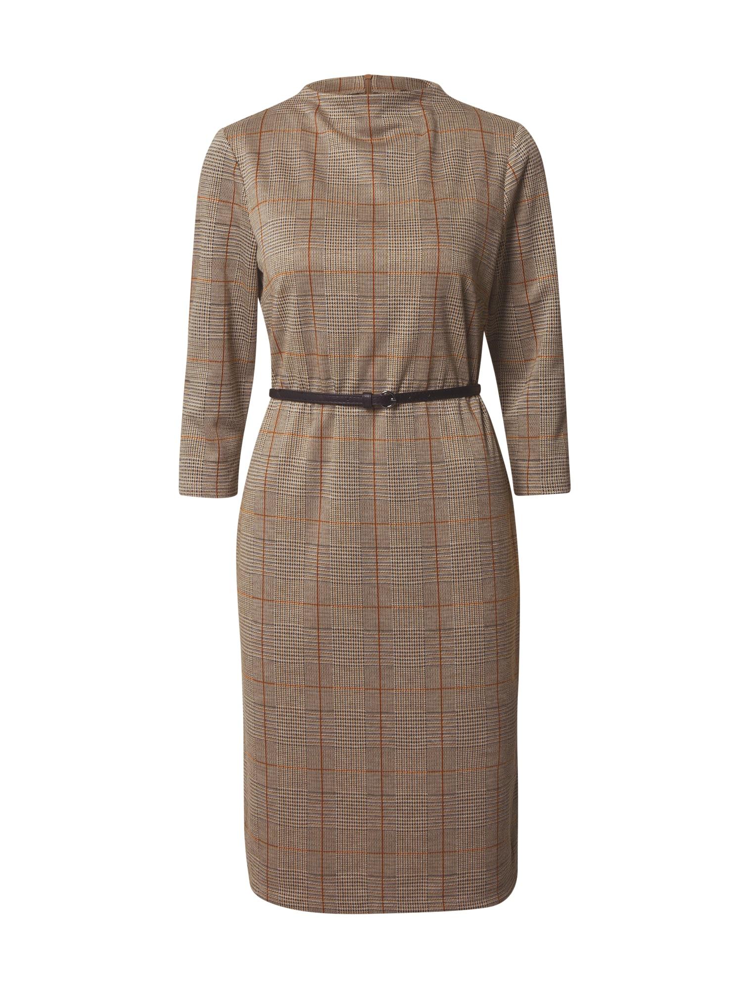 Esprit Collection Trumpa kokteilinė suknelė rausvai pilka / ruda / antracito
