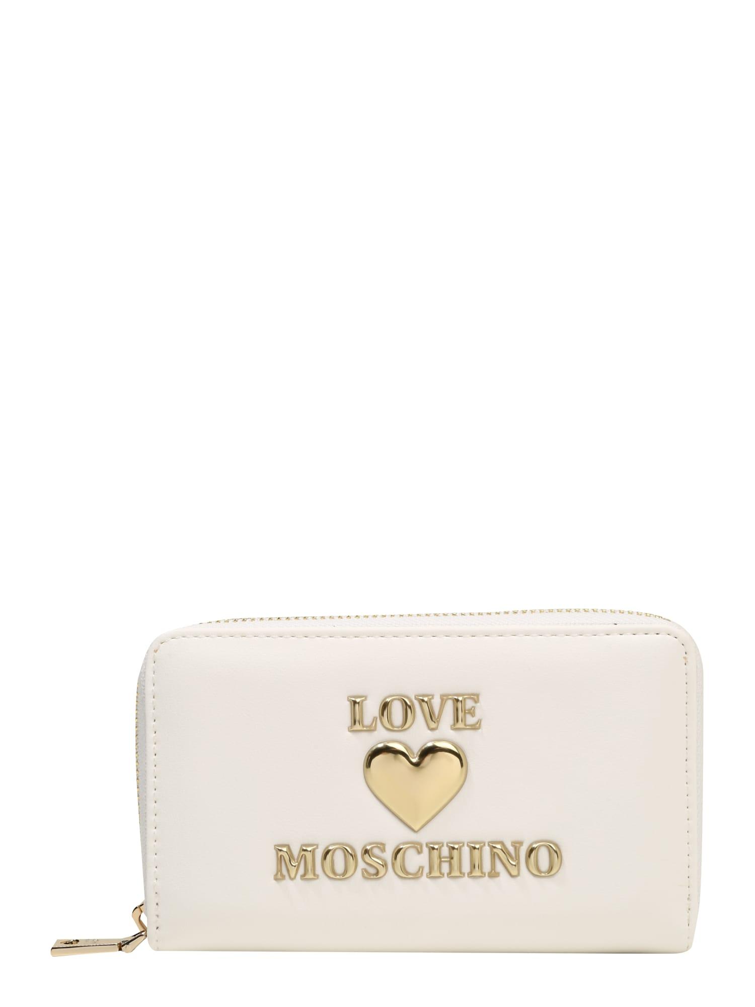 Love Moschino Piniginė balta / auksas