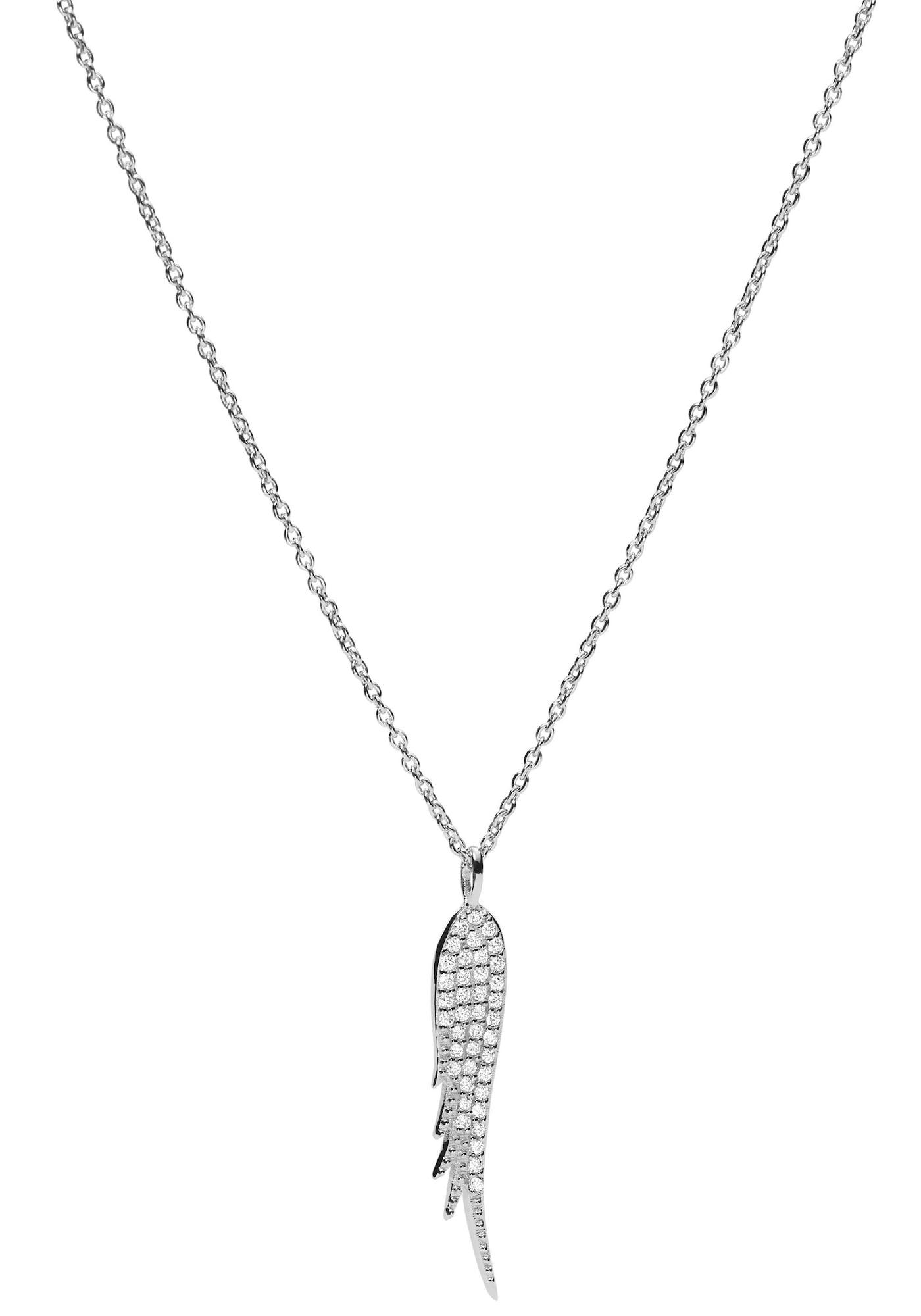 FOSSIL Grandinėlė sidabrinė / skaidri spalva
