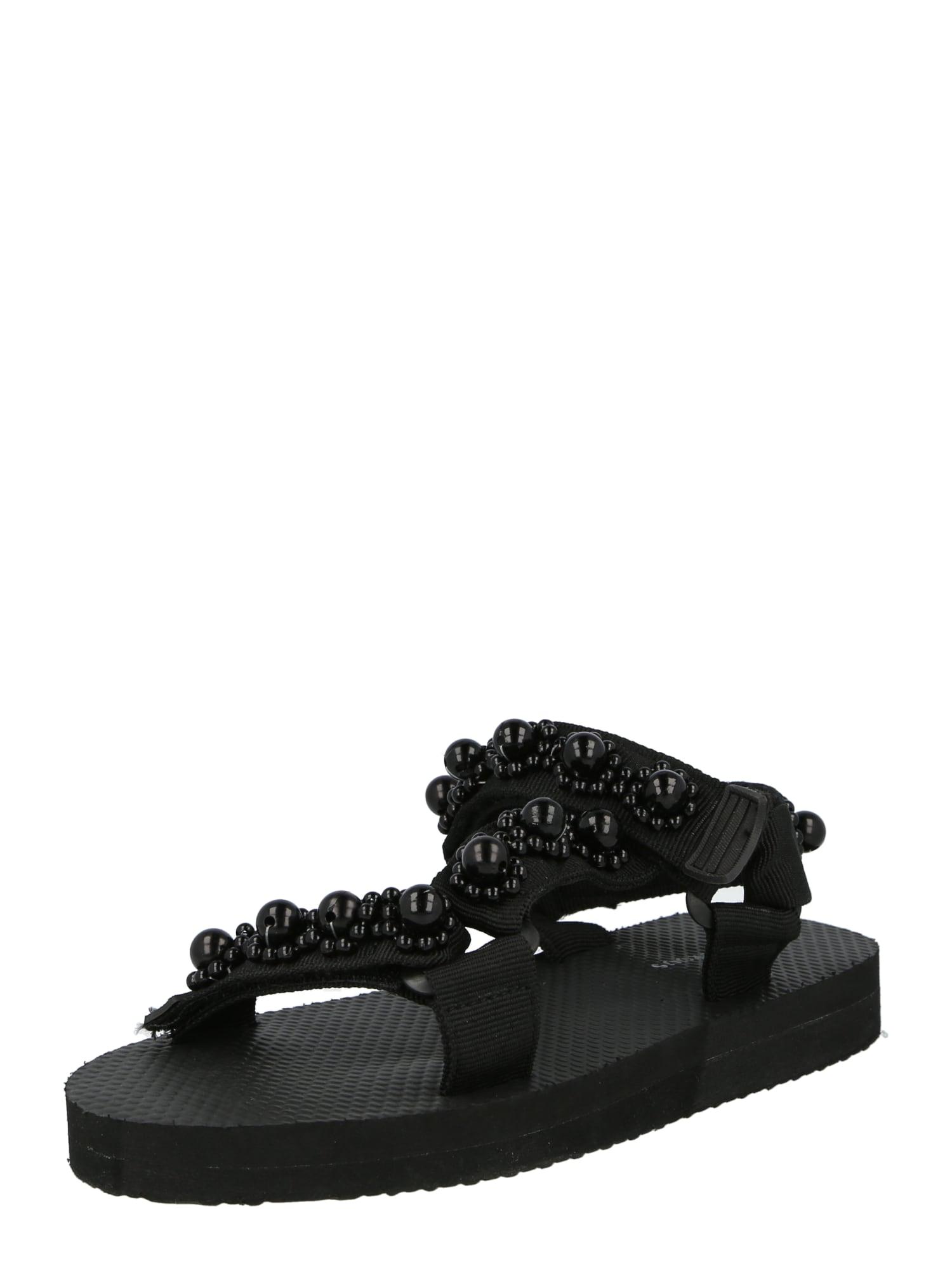 GLAMOROUS Trekingové sandály  černá