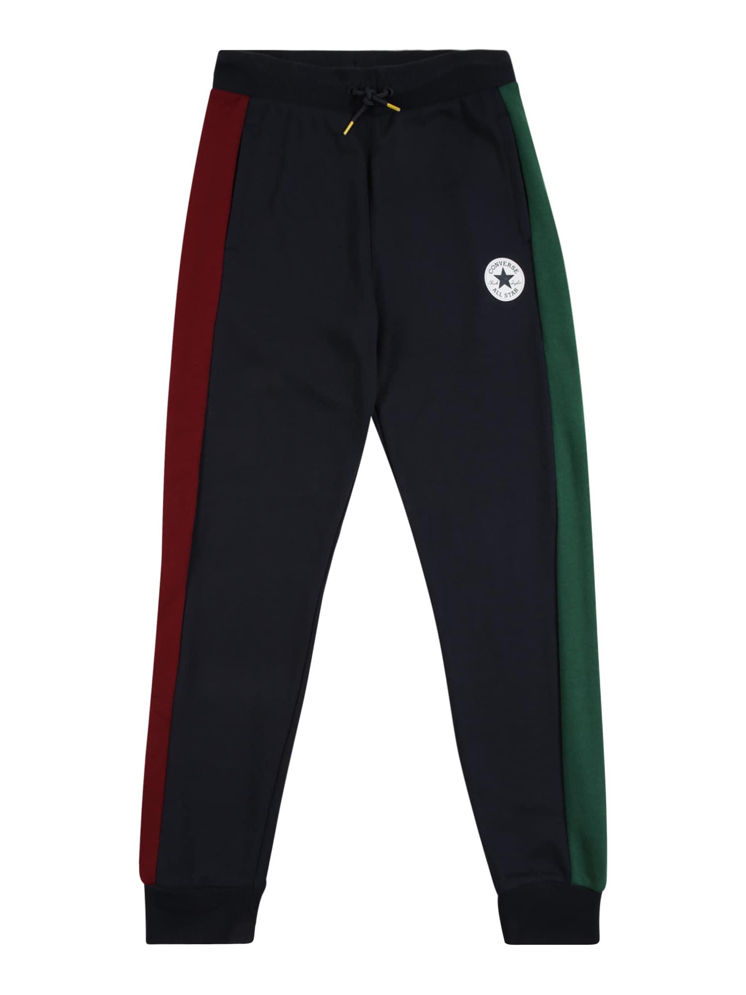 CONVERSE Kelnės tamsiai mėlyna / žalia / raudona