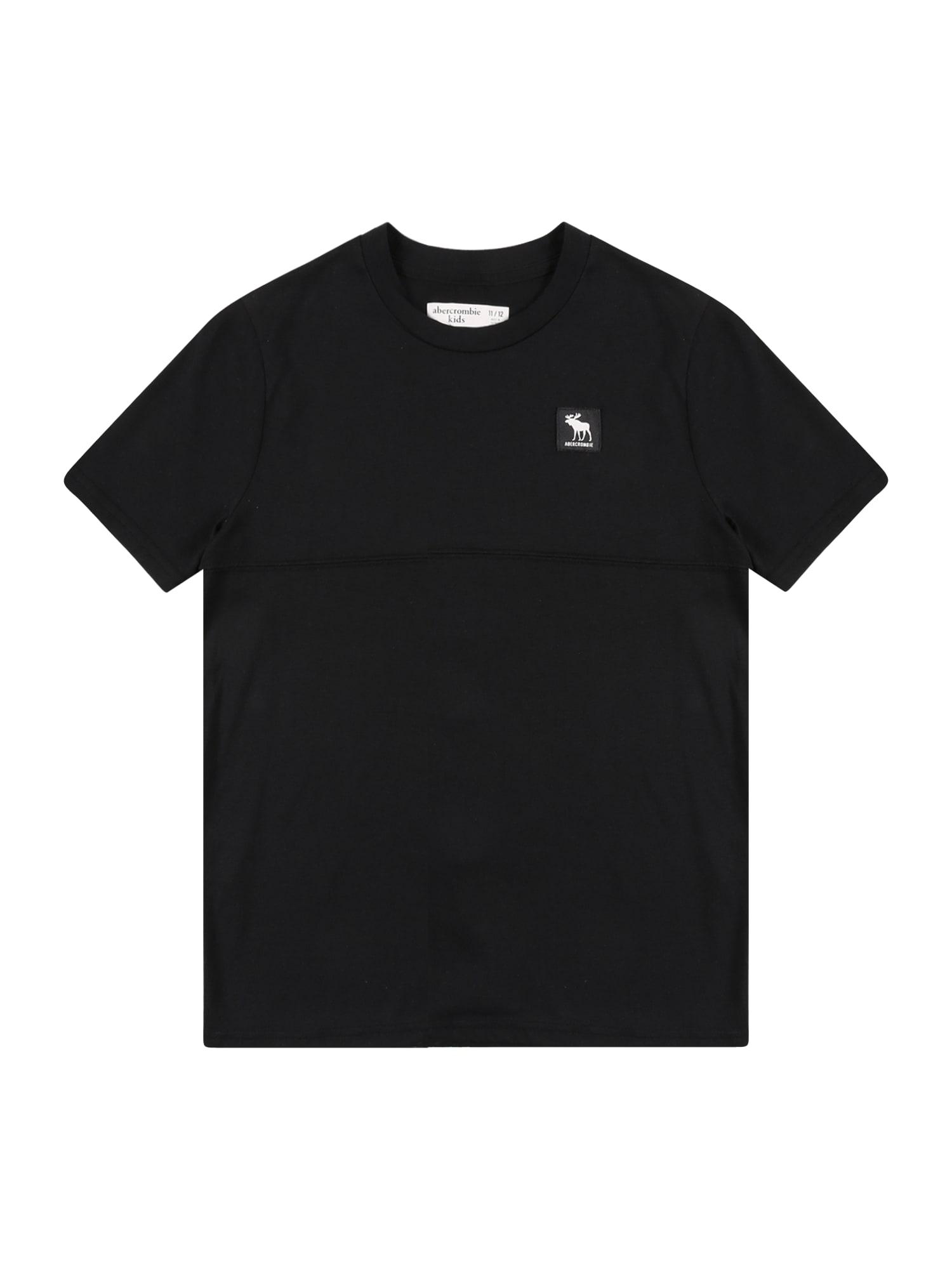 Abercrombie & Fitch Marškinėliai juoda / balta / šviesiai mėlyna / geltona