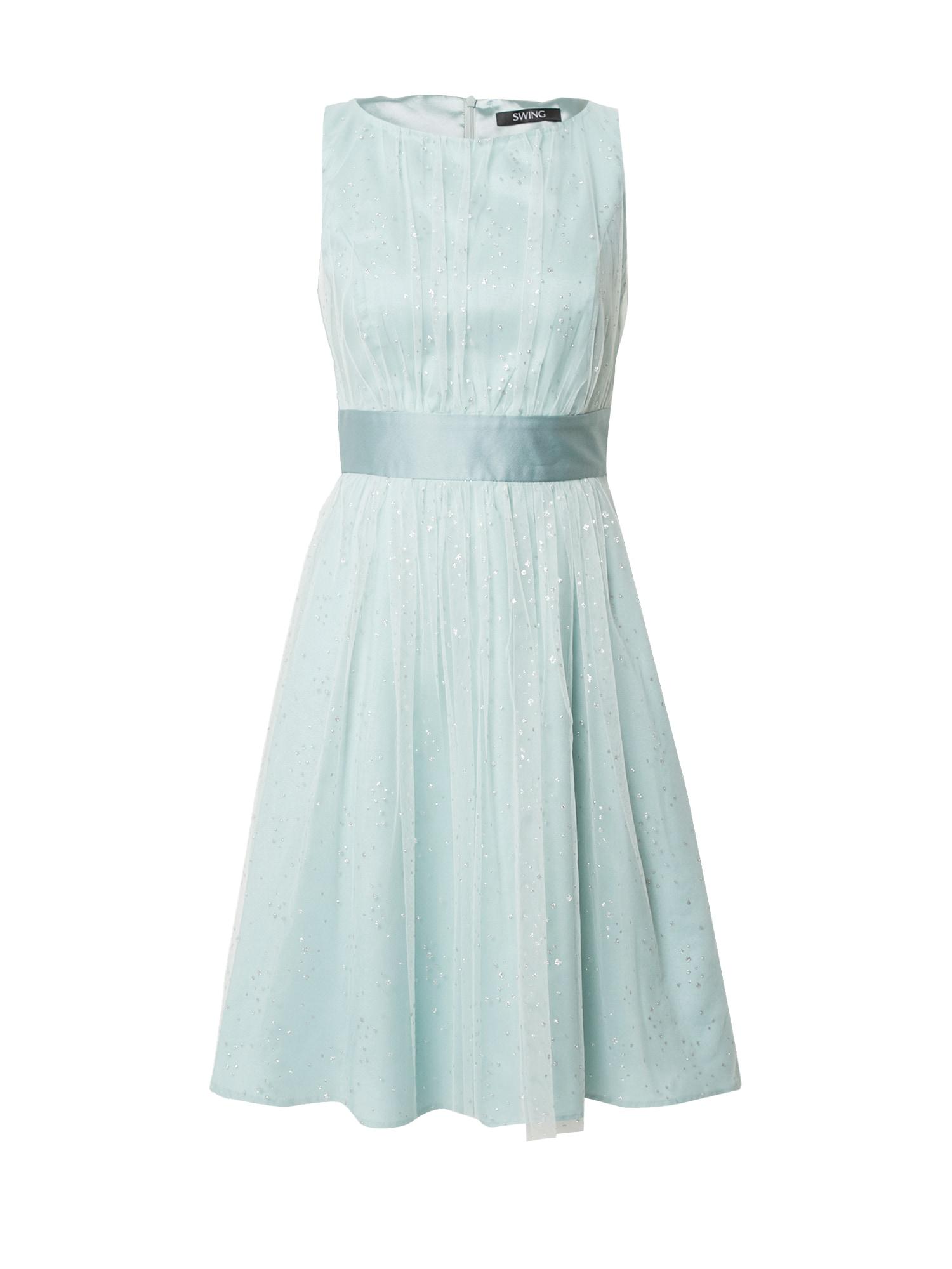 SWING Kokteilinė suknelė šviesiai mėlyna / sidabrinė