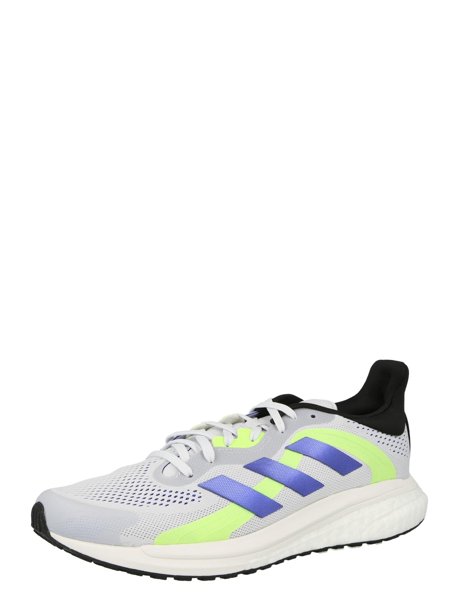 ADIDAS PERFORMANCE Běžecká obuv  světle šedá / marine modrá / svítivě zelená