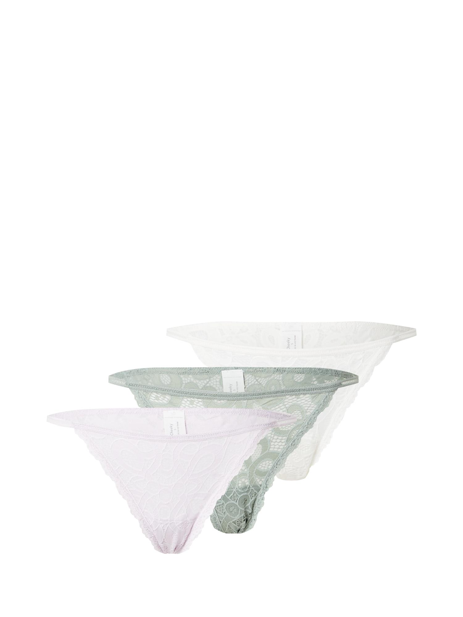 HOLLISTER Kalhotky  mátová / světle fialová / bílá