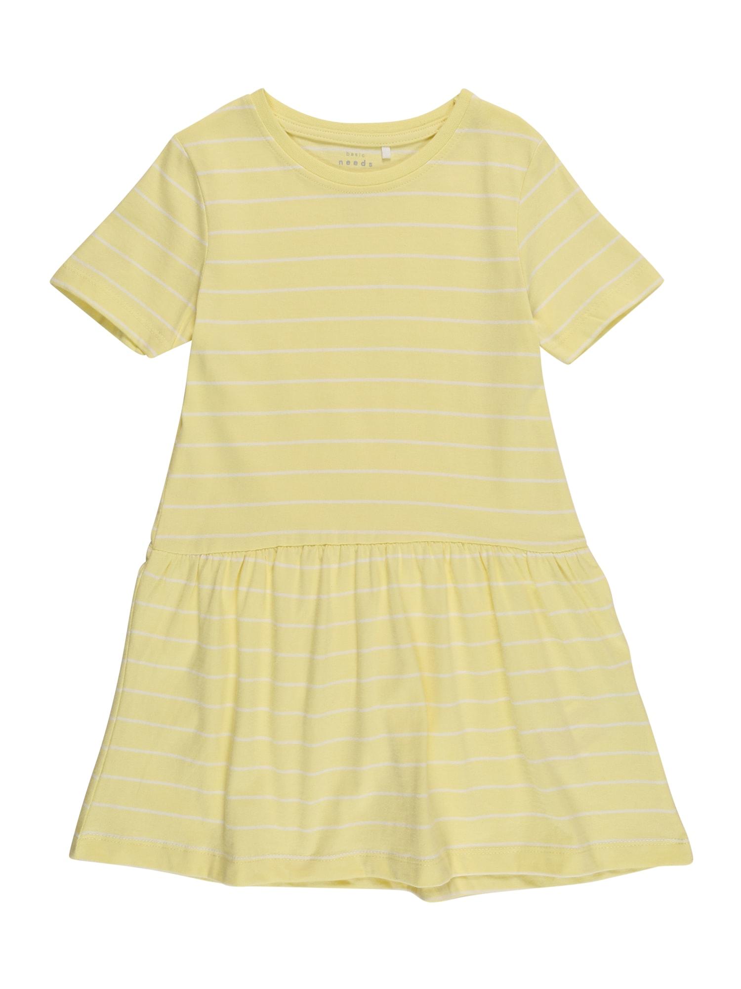 NAME IT Suknelė 'VAMAJA' geltona / balta