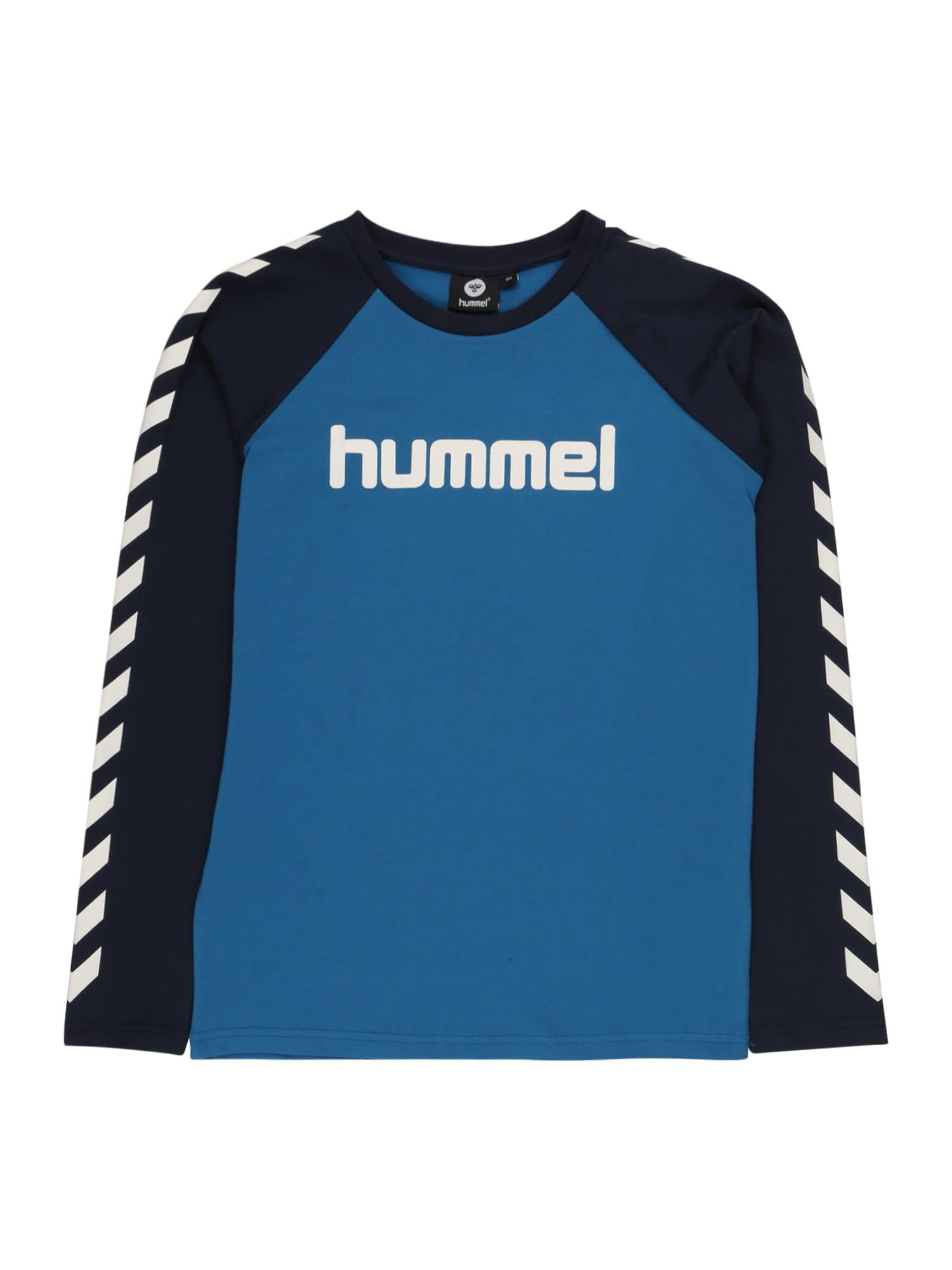 Hummel Tričko  nebeská modř / kobaltová modř / bílá
