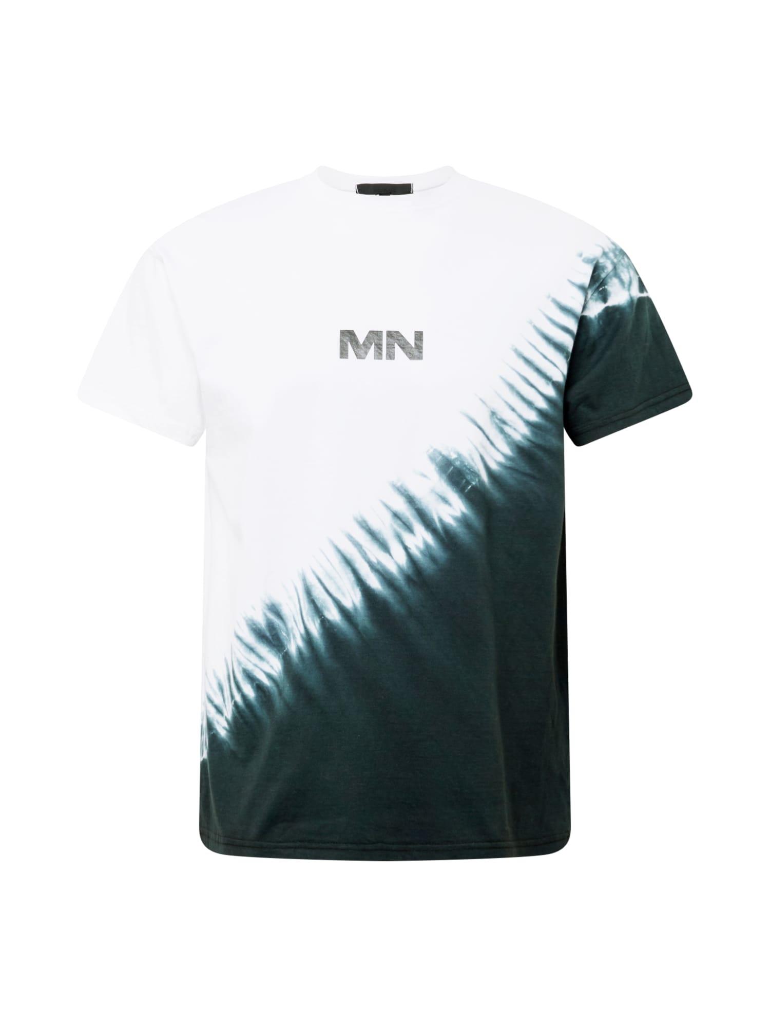 Mennace Marškinėliai balkšva / tamsiai žalia / juoda