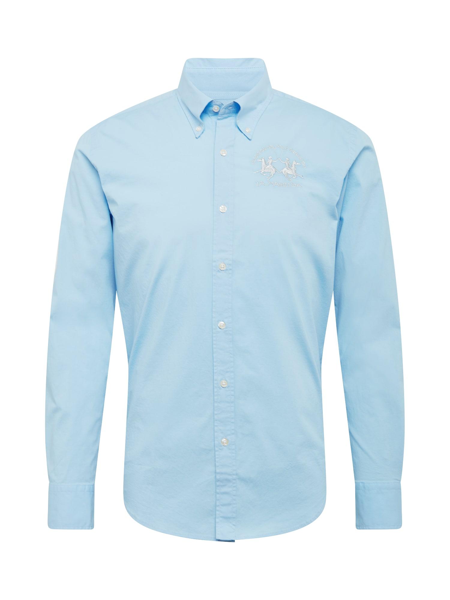 La Martina Marškiniai šviesiai mėlyna / sidabrinė