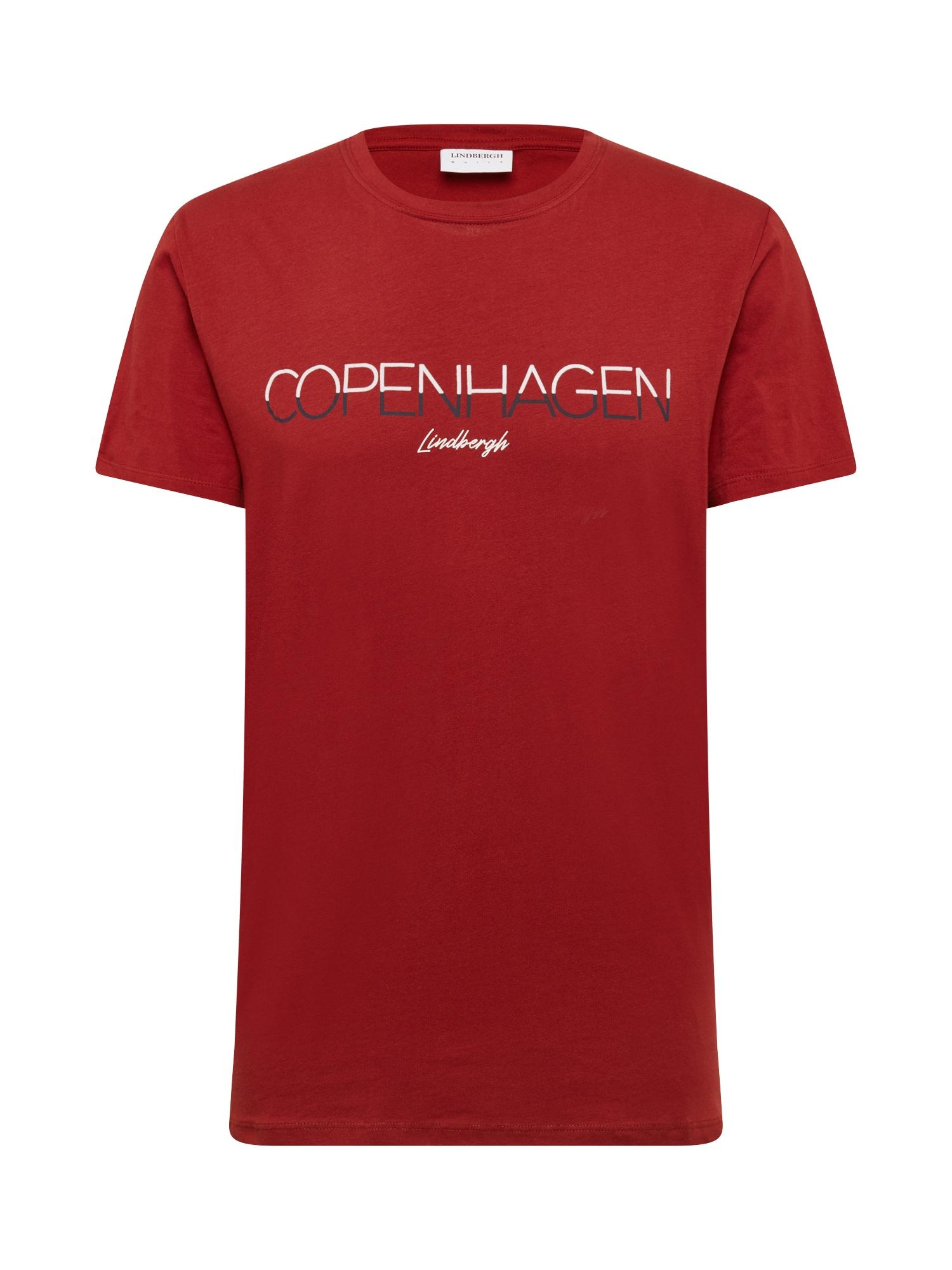 Lindbergh Marškinėliai rūdžių raudona / balta / tamsiai mėlyna jūros spalva