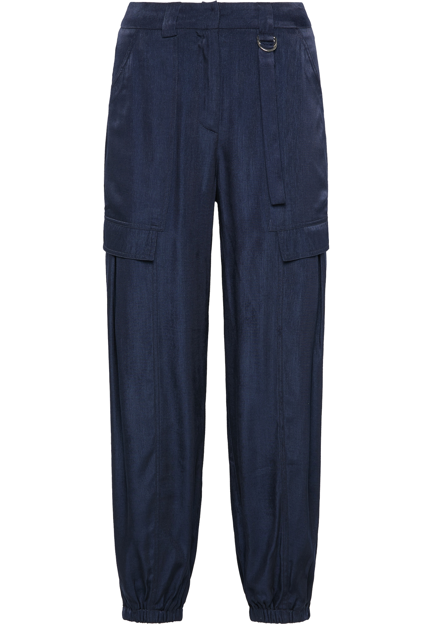 usha BLUE LABEL Laisvo stiliaus kelnės tamsiai mėlyna