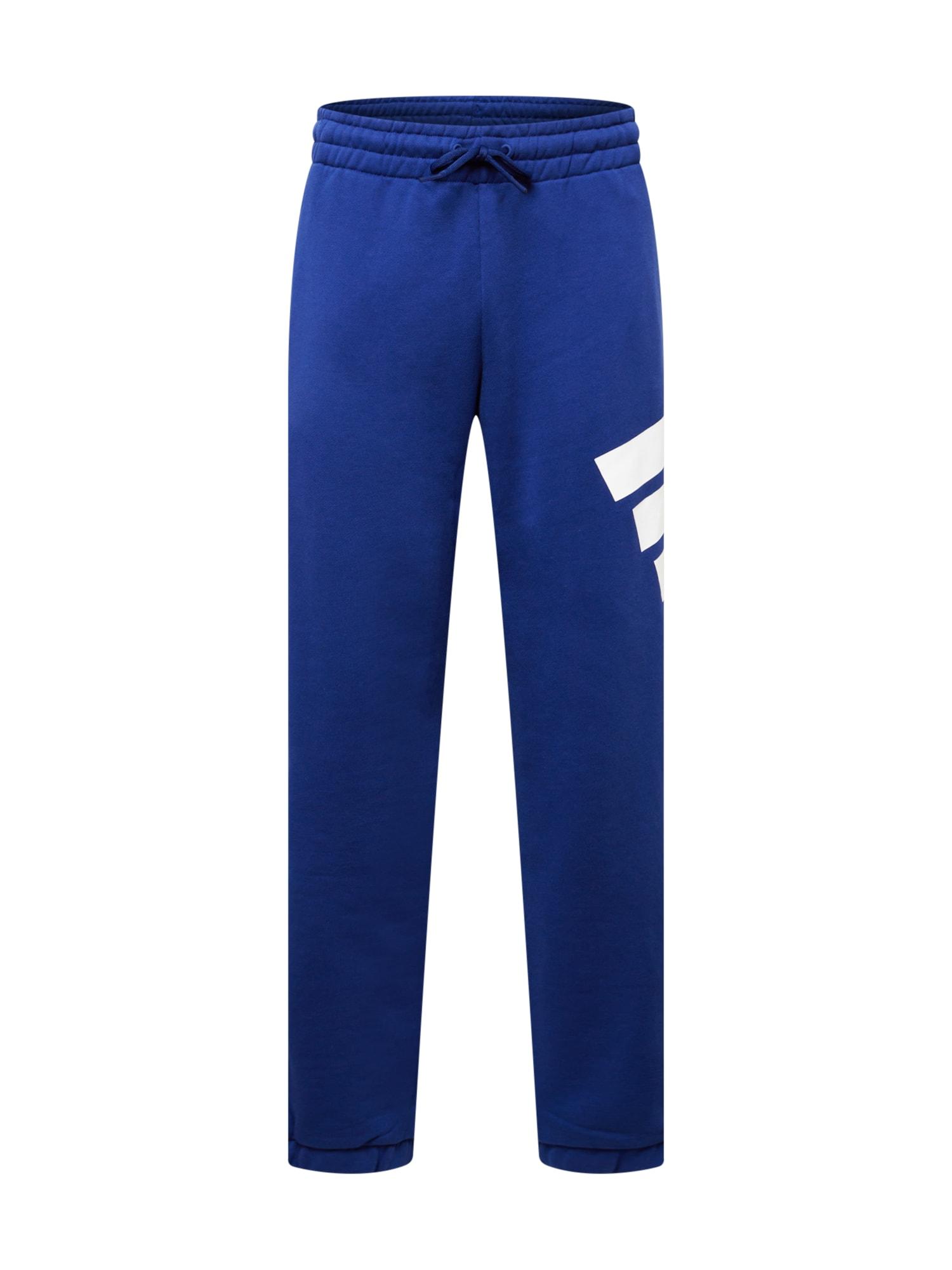 ADIDAS PERFORMANCE Sportovní kalhoty  modrá / bílá
