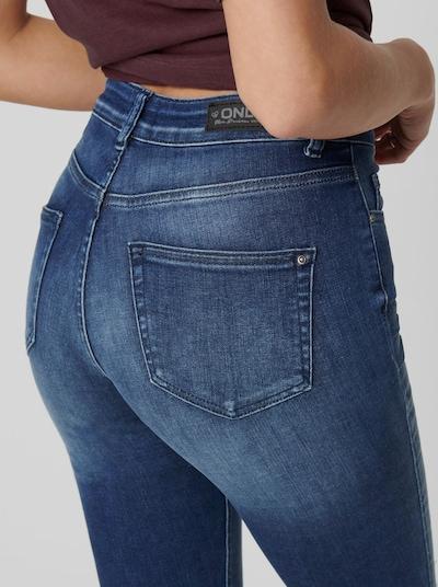 Only Blush Life Mid Rise knöchellange Skinny Jeans mit unverarbeitetem Saum