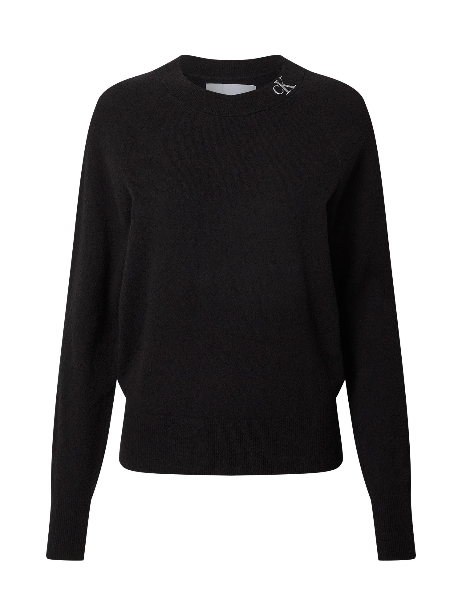 Calvin Klein Jeans Megztinis juoda / sidabrinė