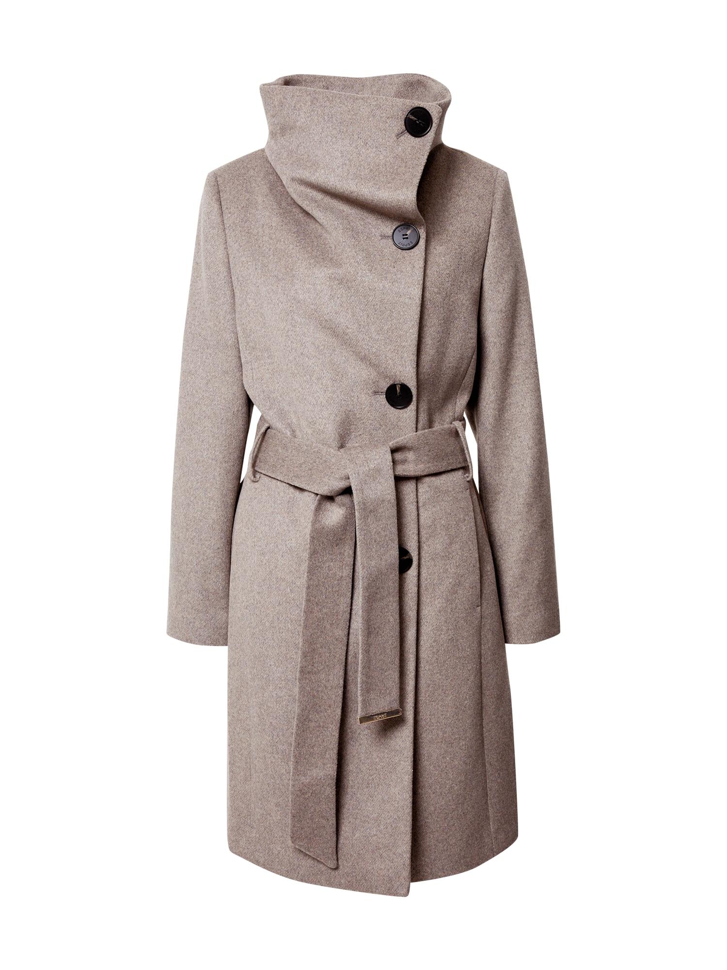 Esprit Collection Přechodný kabát  šedobéžová