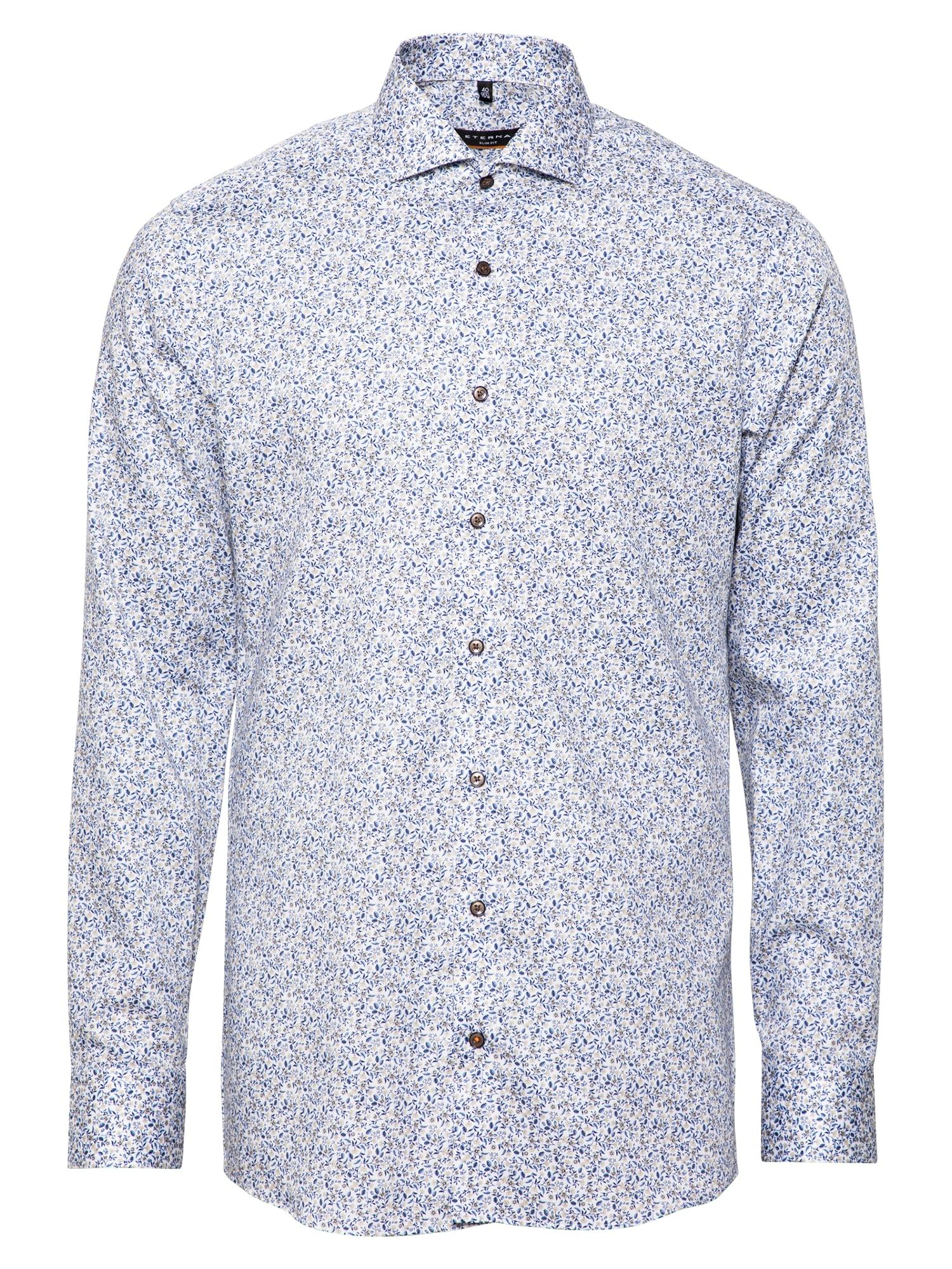 ETERNA Marškiniai smėlio / gelsvai pilka spalva / tamsiai mėlyna / tamsiai mėlyna