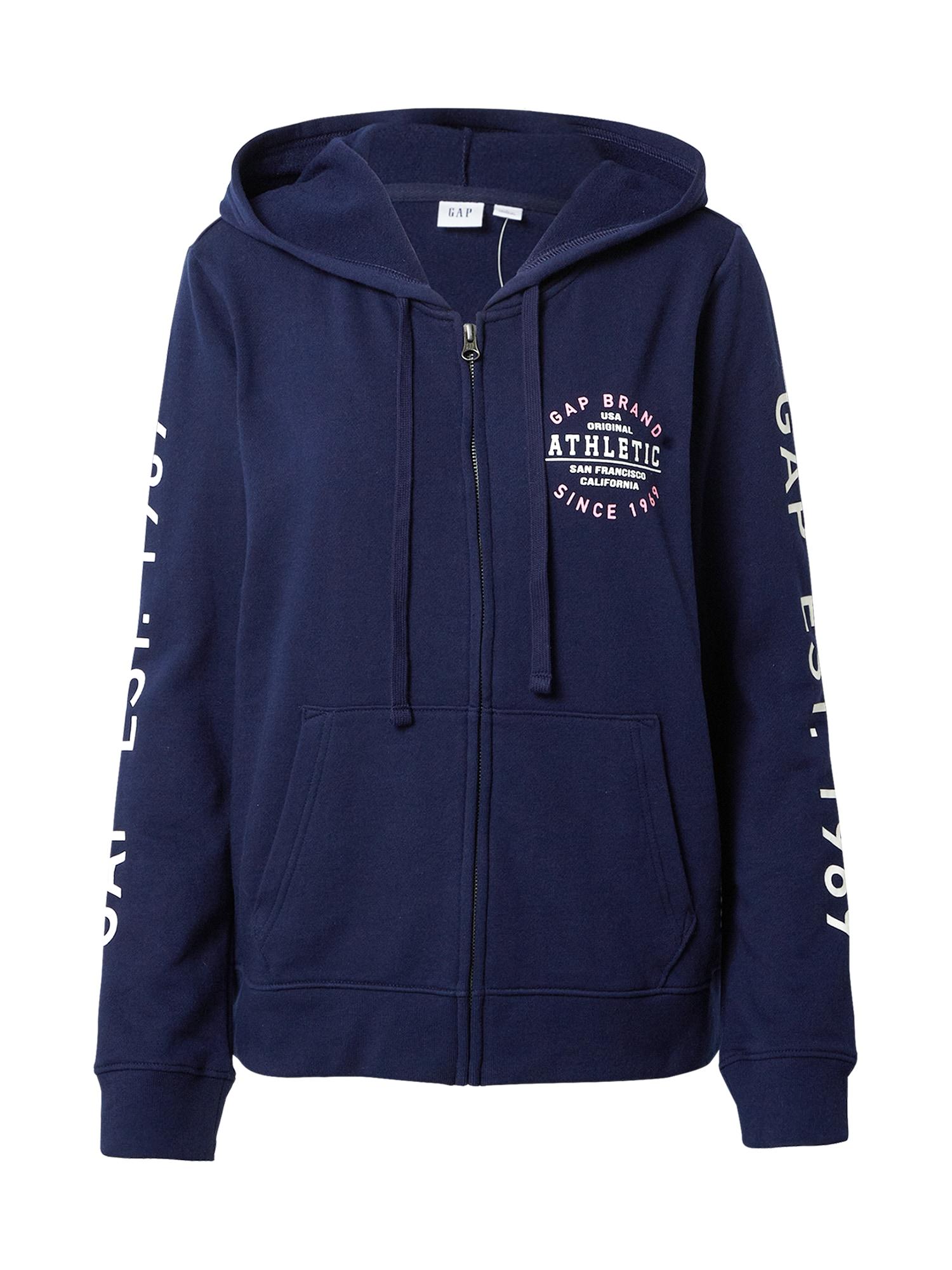 GAP Mikina s kapucí  námořnická modř / bílá / růžová