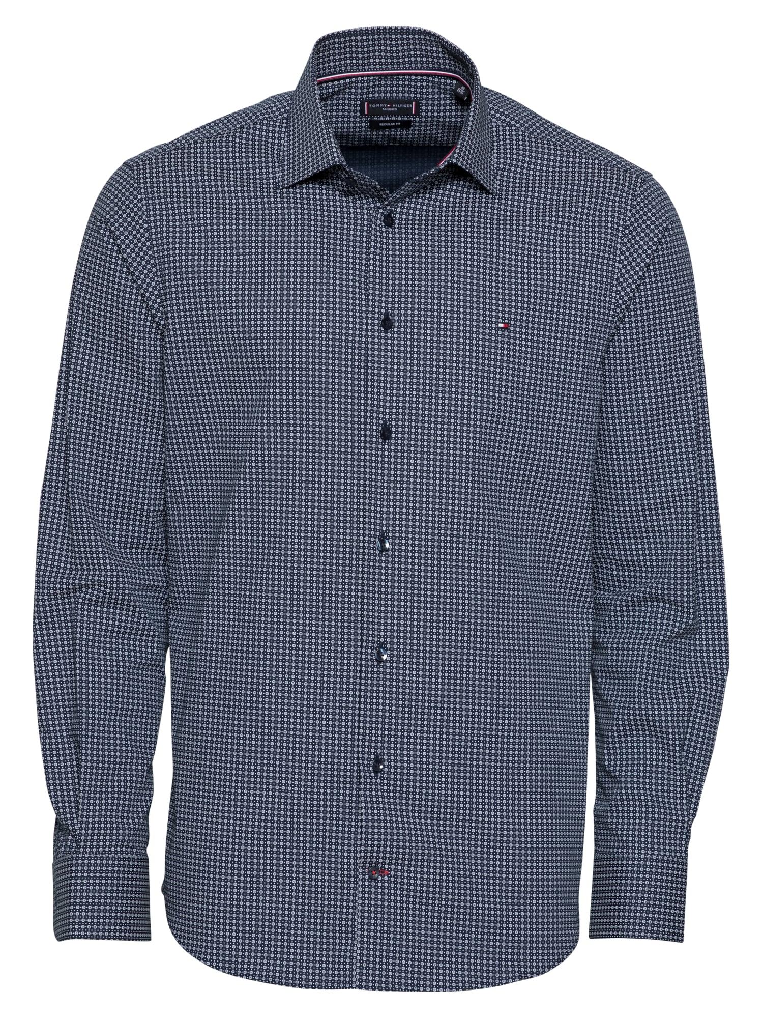 Tommy Hilfiger Tailored Marškiniai šviesiai mėlyna / nakties mėlyna