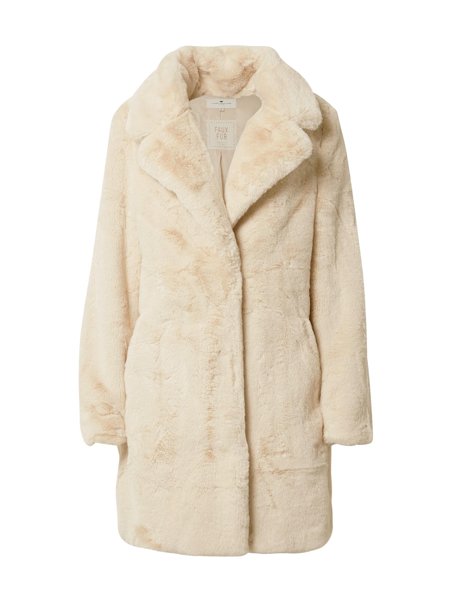 TOM TAILOR Přechodný kabát  písková