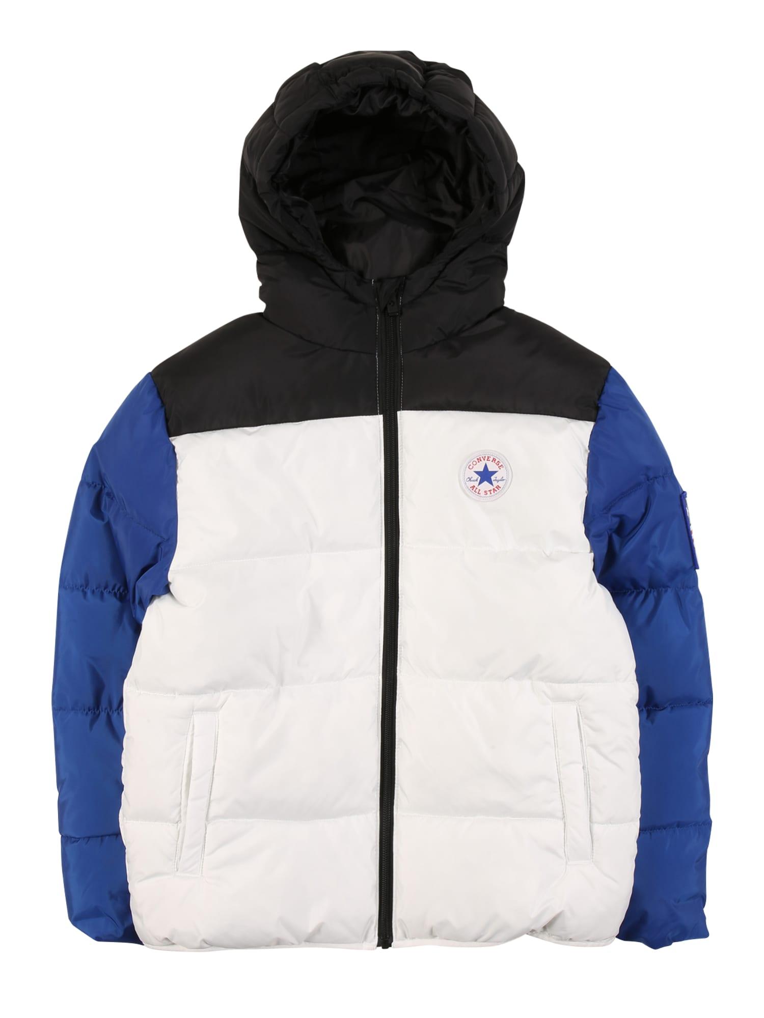 CONVERSE Žieminė striukė ' VARSITY' juoda / balta / mėlyna