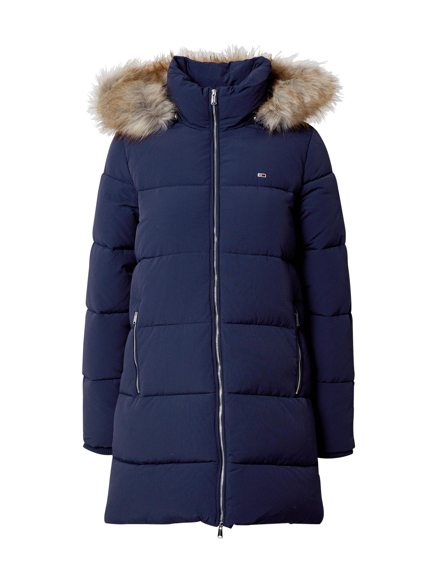 Tommy Jeans Zimní kabát 'Modern Puffa'  námořnická modř / béžová