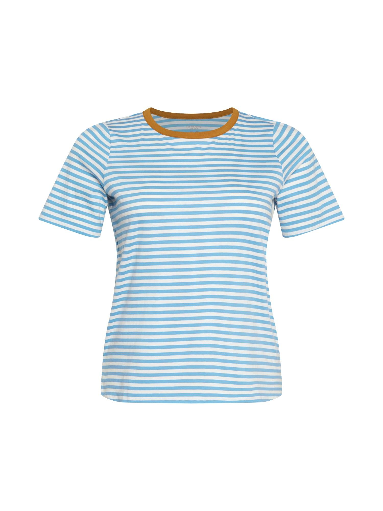 MY TRUE ME Marškinėliai balta / karamelės / šviesiai mėlyna
