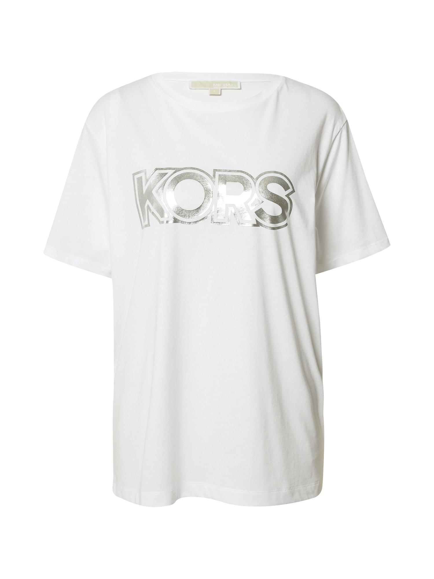 MICHAEL Michael Kors Marškinėliai balta / sidabrinė
