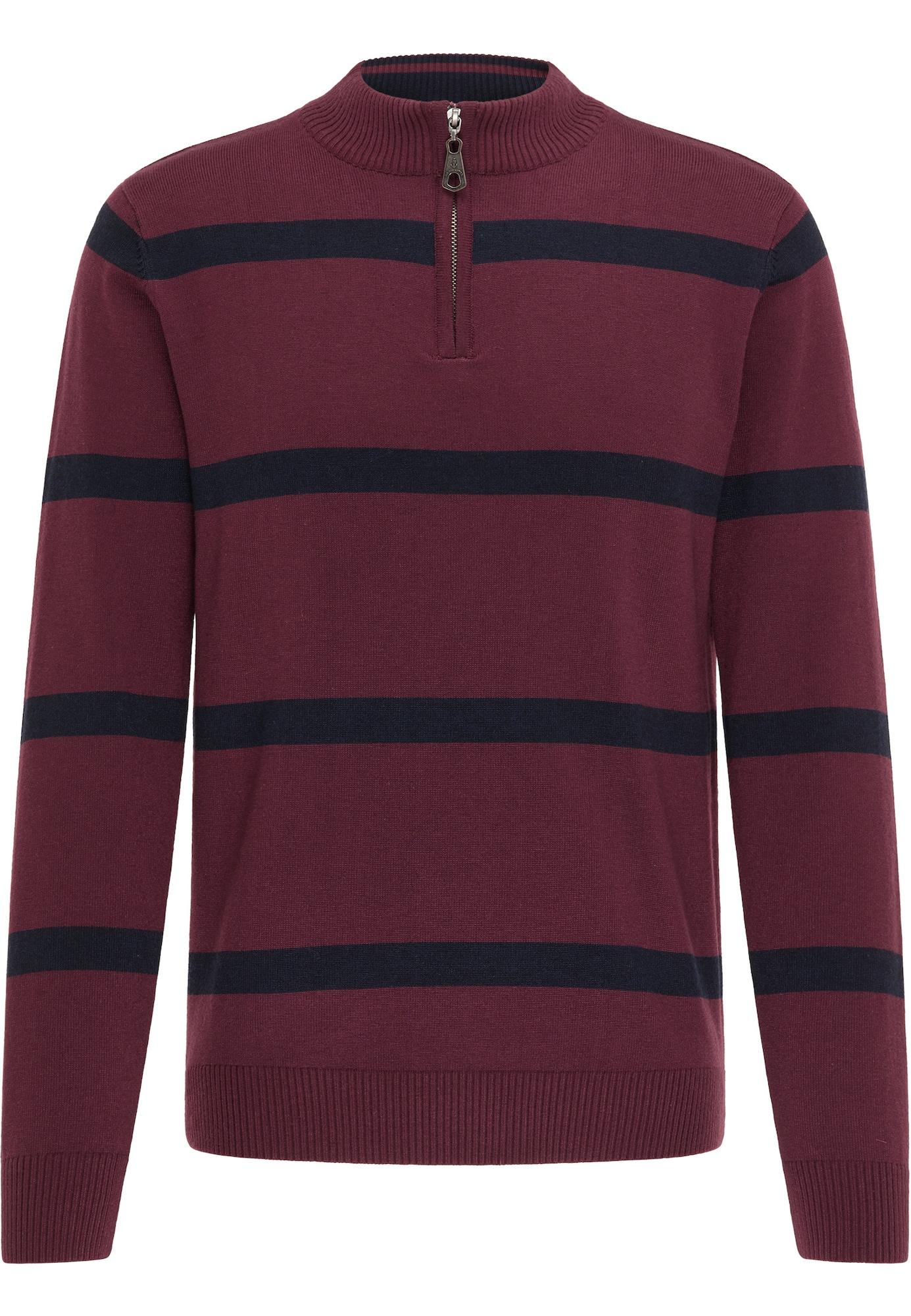 DreiMaster Maritim Megztinis tamsiai mėlyna / tamsiai raudona