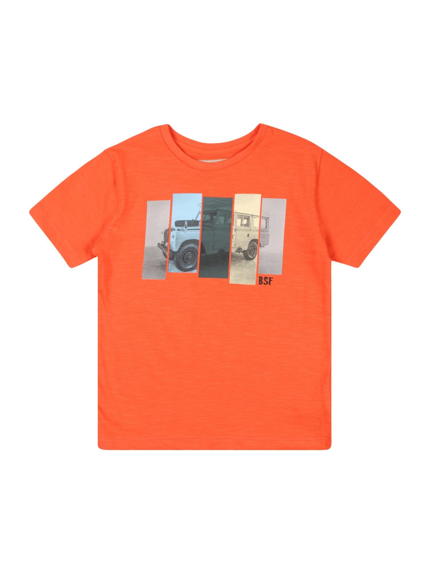BASEFIELD Marškinėliai tamsiai oranžinė / mišrios spalvos