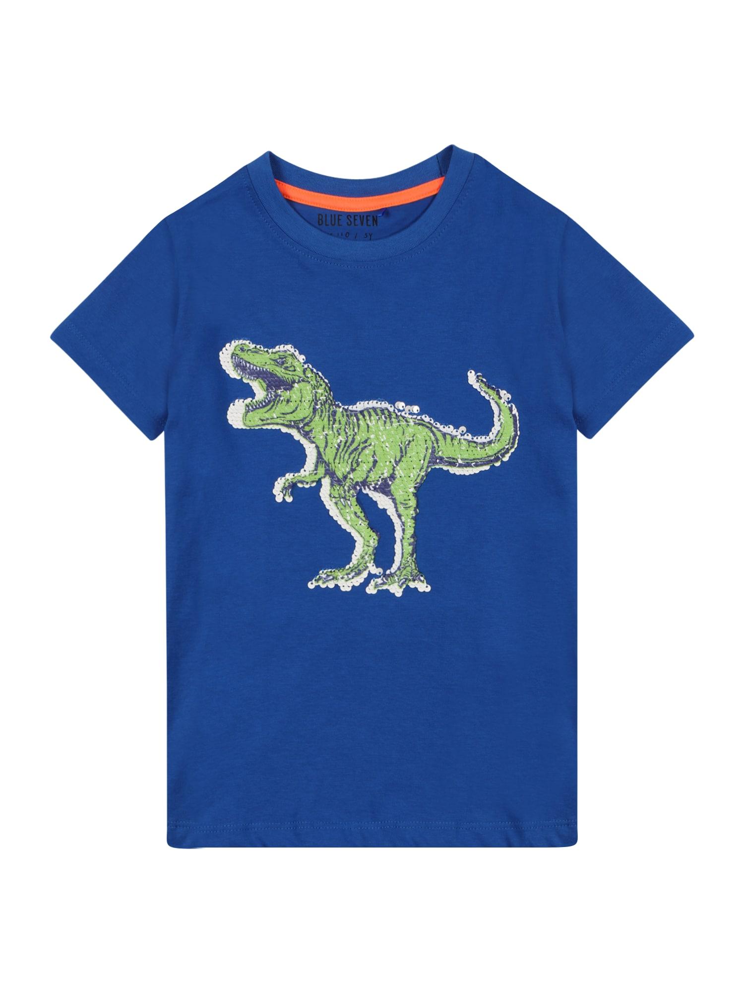 "BLUE SEVEN Marškinėliai sodri mėlyna (""karališka"") / šviesiai žalia / balta / tamsiai mėlyna"