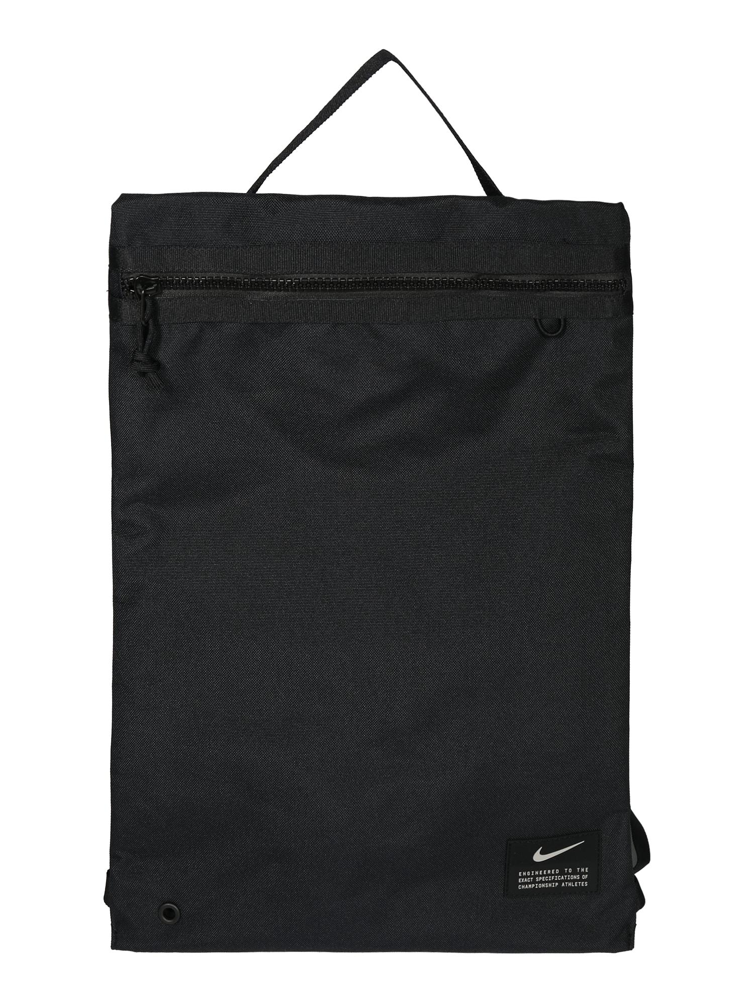 NIKE Sportinis krepšys-maišas 'Utility' juoda