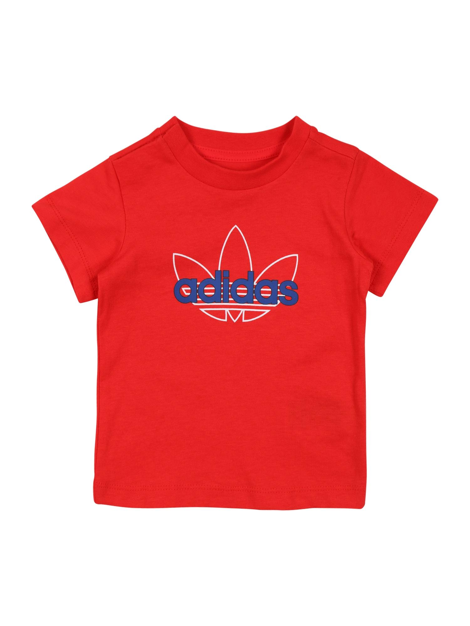 ADIDAS ORIGINALS Marškinėliai raudona / balta / mėlyna