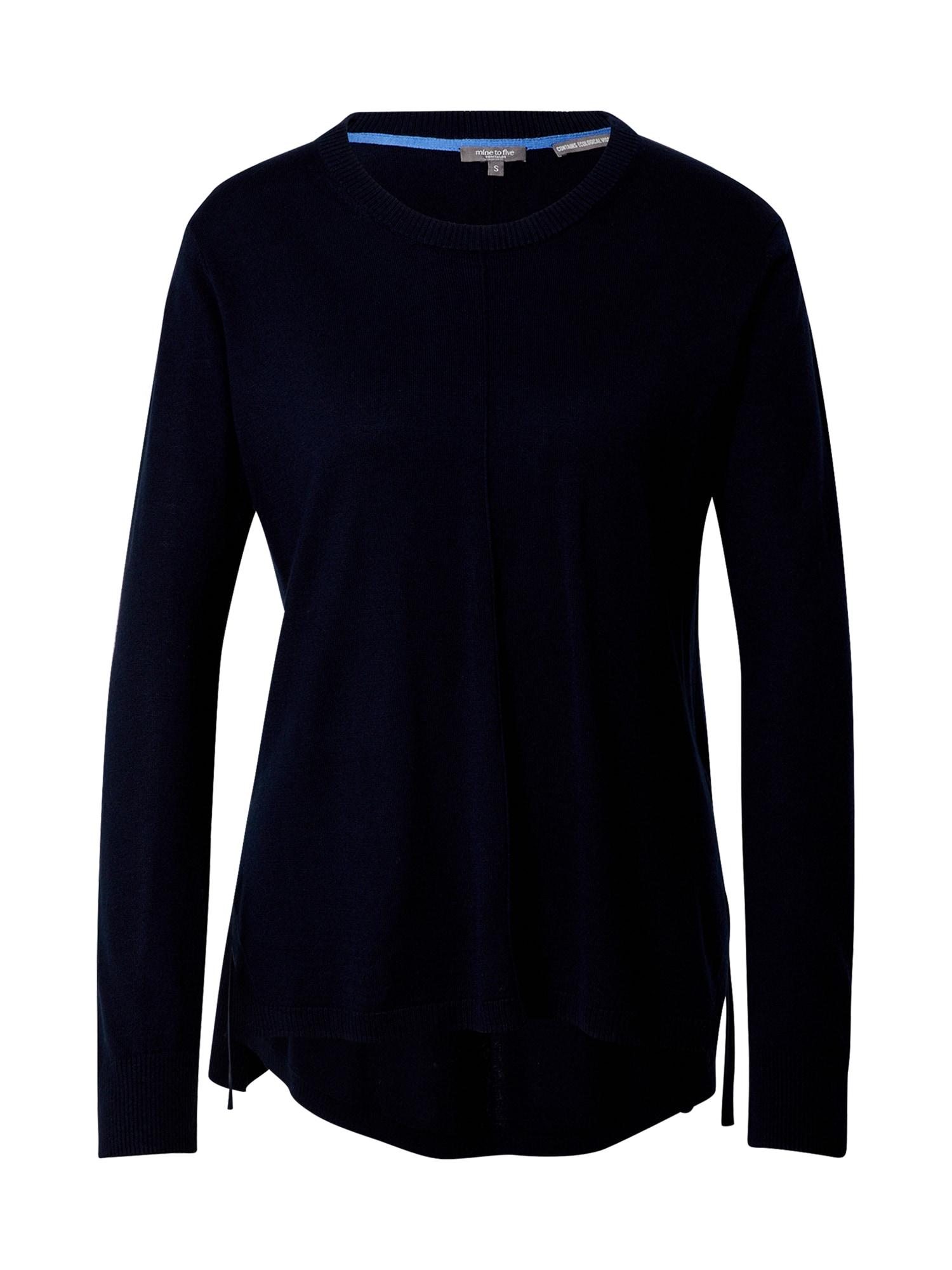MINE TO FIVE Megztinis tamsiai mėlyna jūros spalva