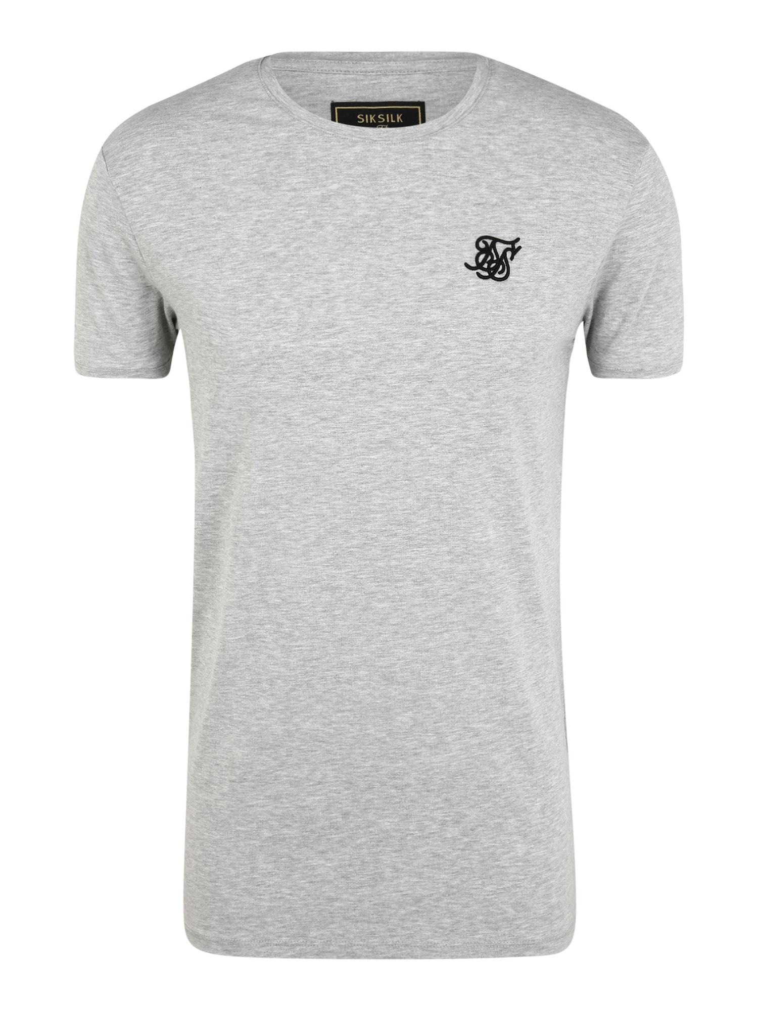 SikSilk Marškinėliai margai pilka