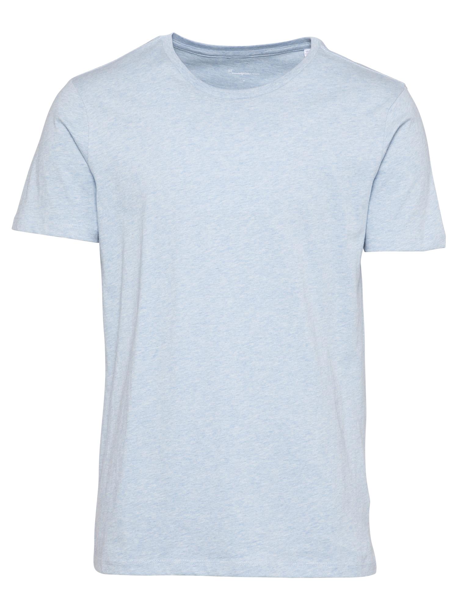 KnowledgeCotton Apparel Marškinėliai šviesiai mėlyna