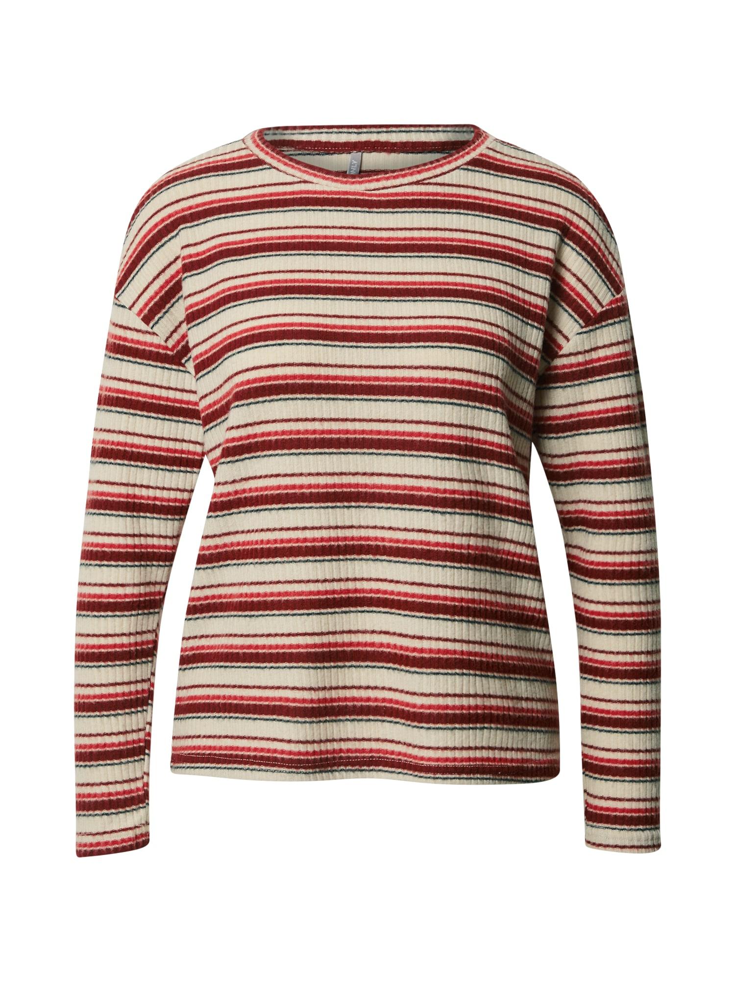 ONLY Tričko 'Cortney'  červená / béžová / modrá