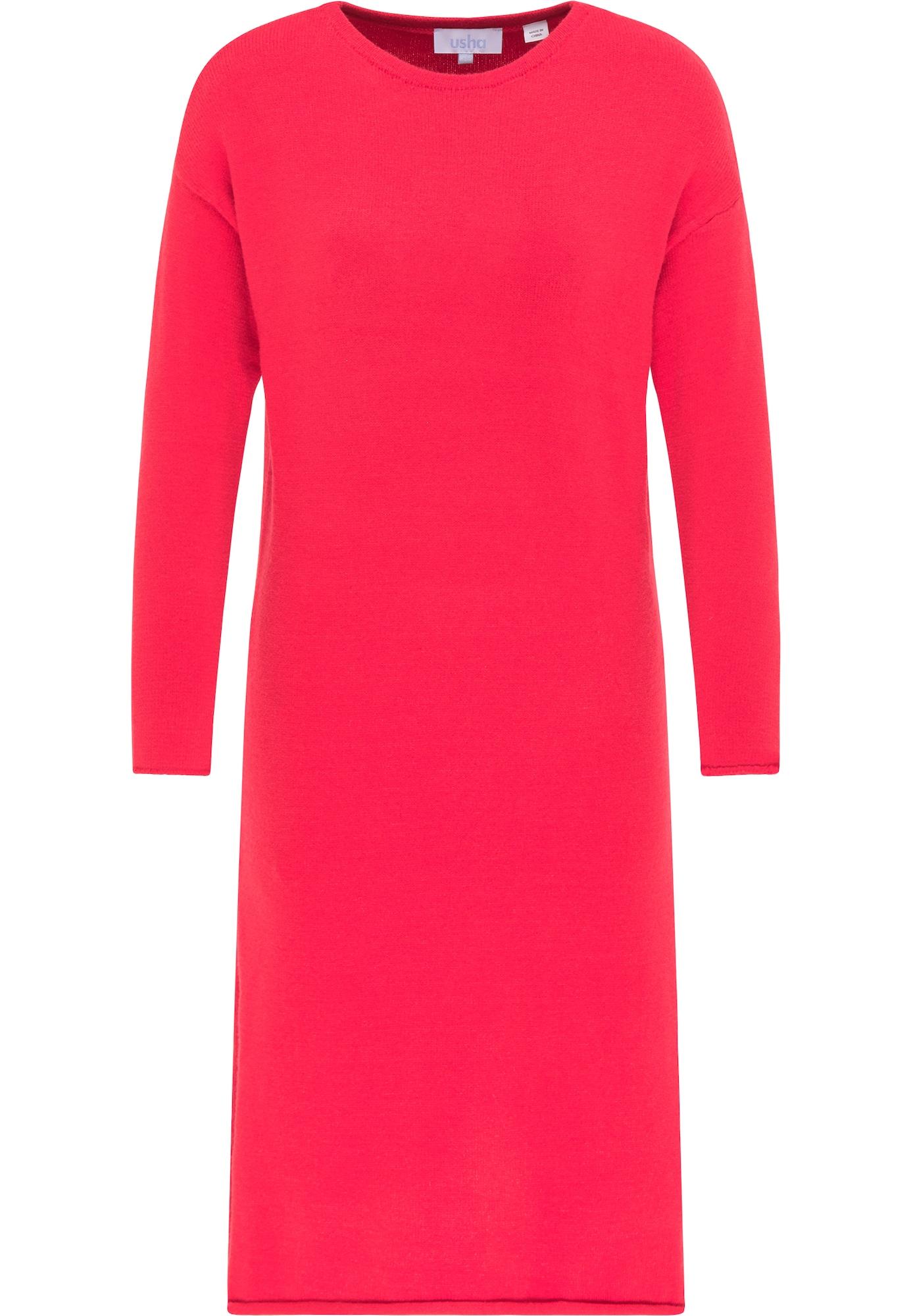 usha BLUE LABEL Megzta suknelė raudona