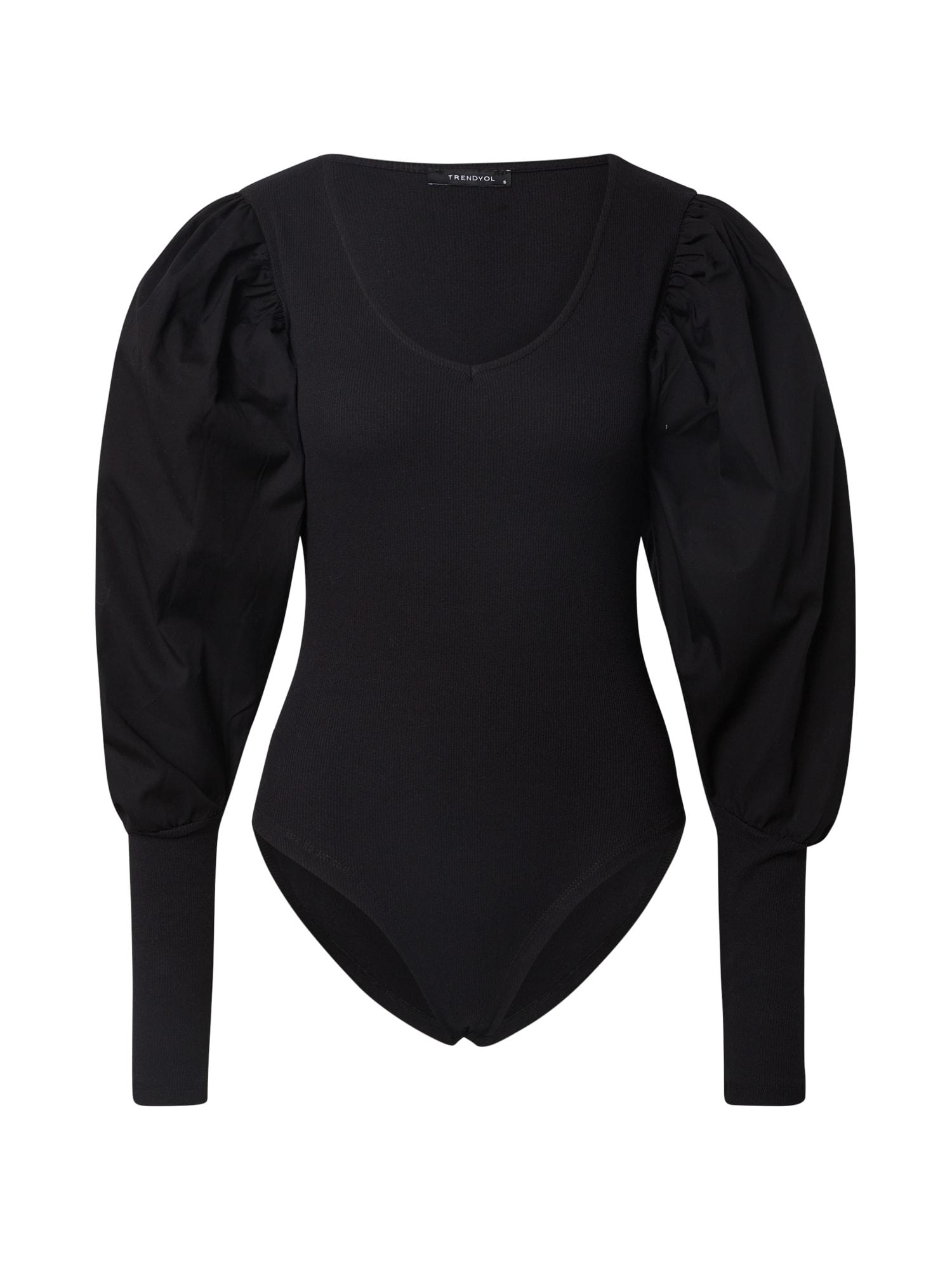 Trendyol Marškinėliai-glaustinukė juoda