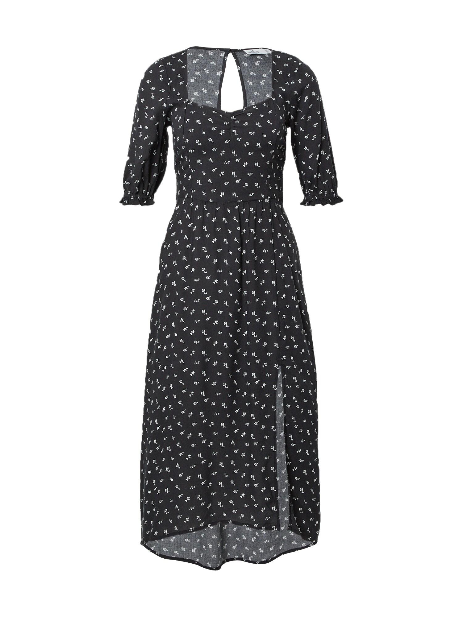 HOLLISTER Vasarinė suknelė juoda / balta