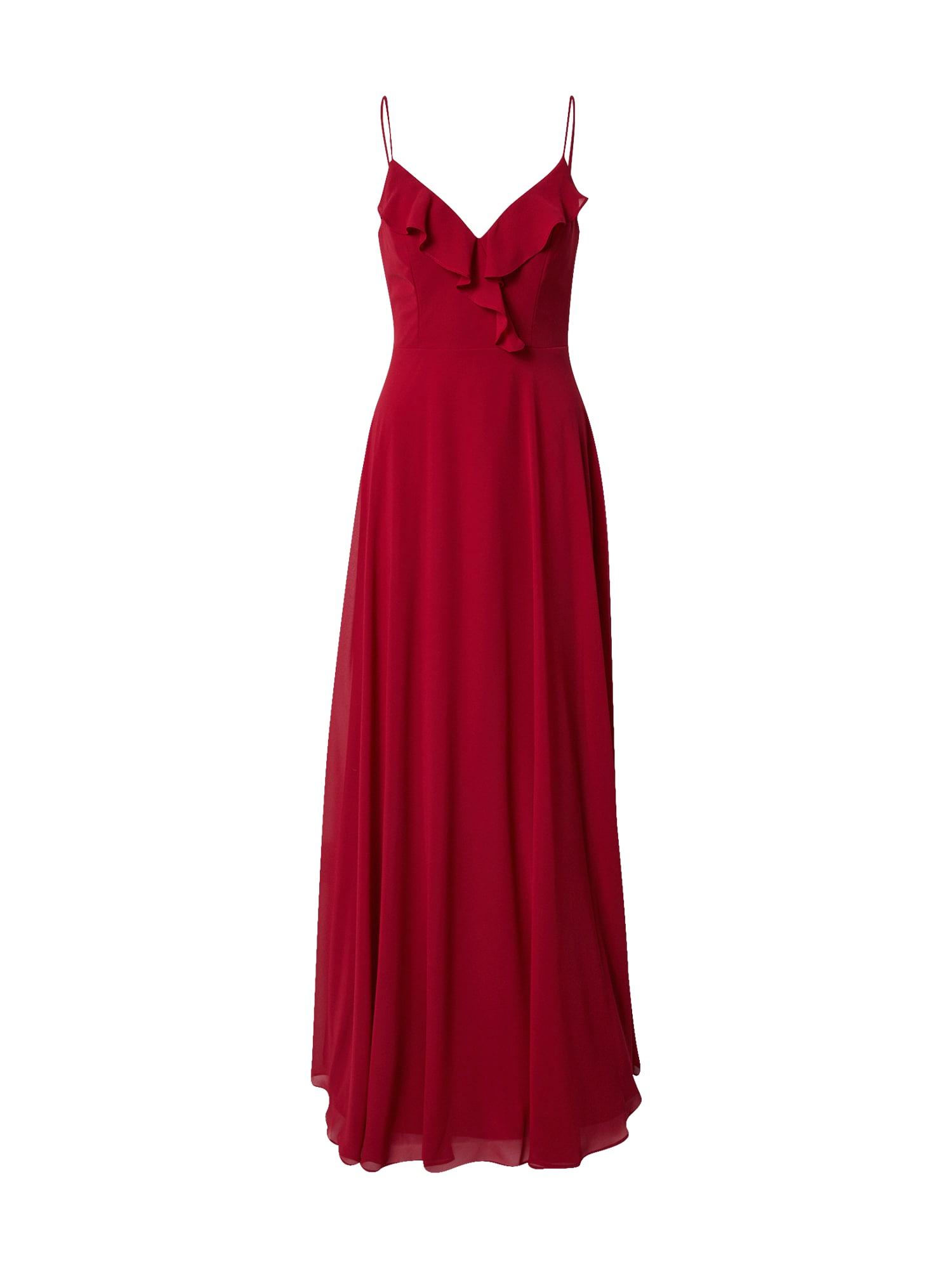 STAR NIGHT Vakarinė suknelė uogų spalva