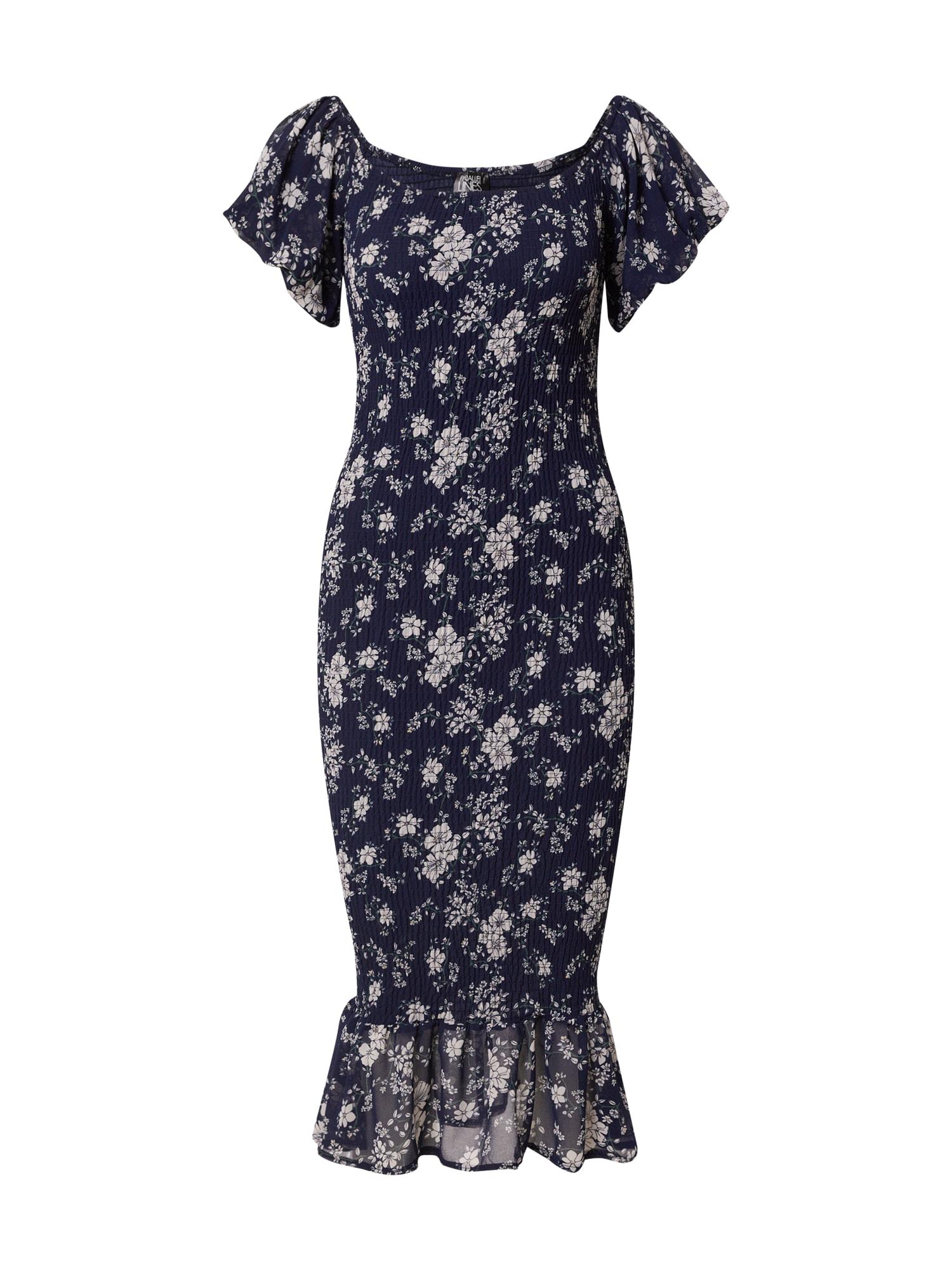 Parallel Lines Suknelė tamsiai mėlyna jūros spalva / šviesiai pilka / žolės žalia