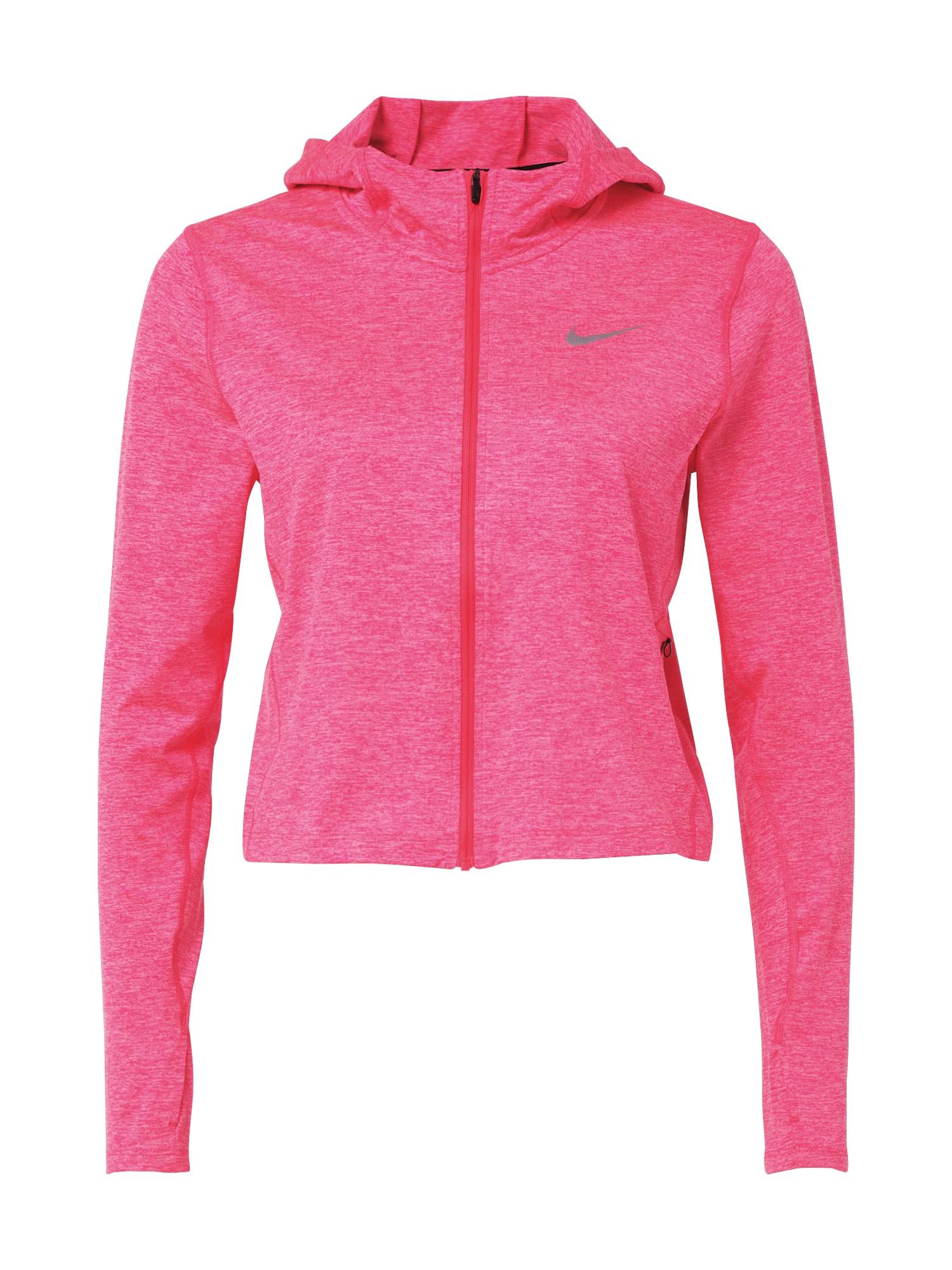 NIKE Sportiniai marškinėliai rožinė / margai pilka / smėlio