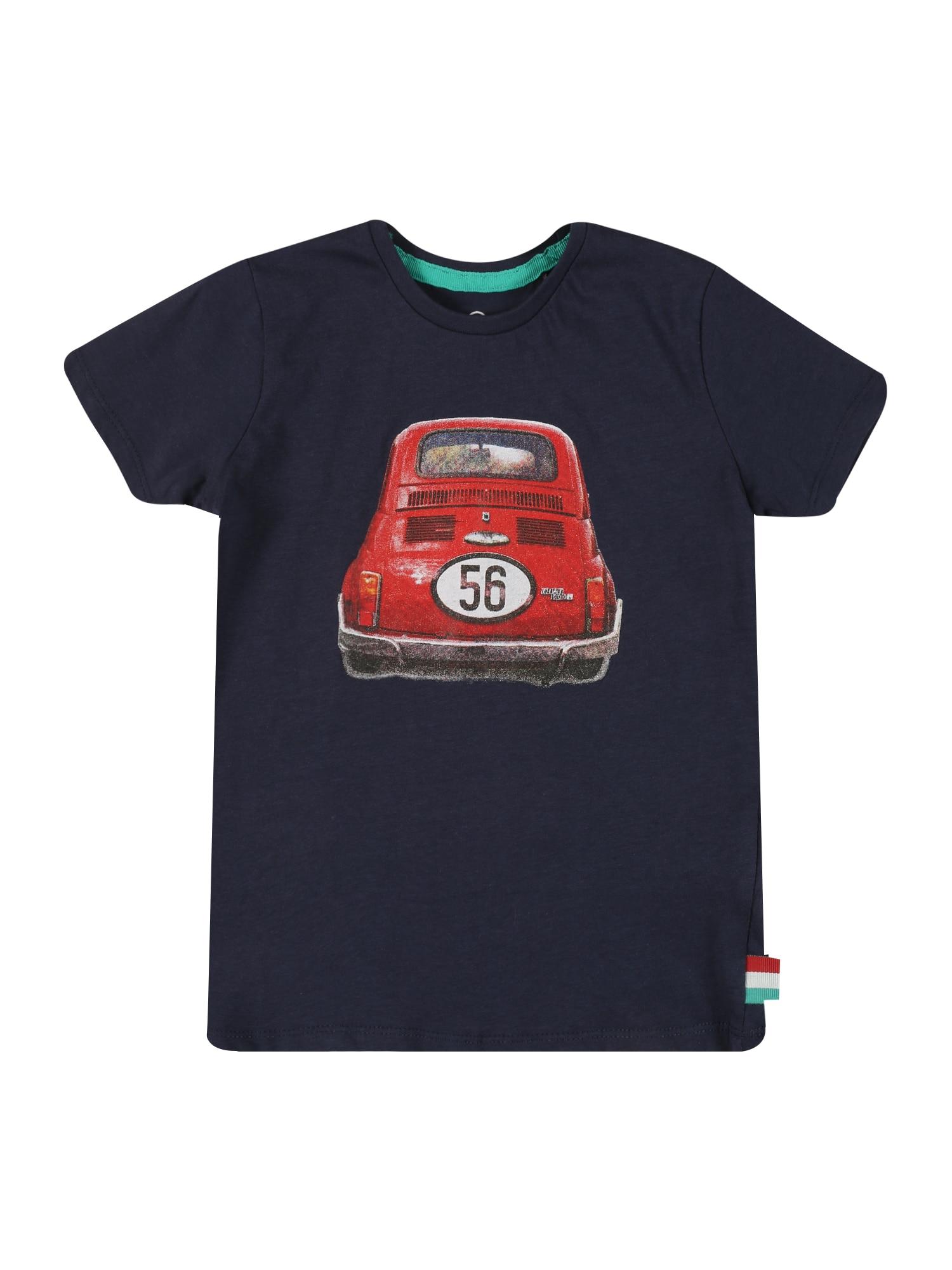 LEMON BERET Marškinėliai tamsiai mėlyna / balta / raudona / juoda