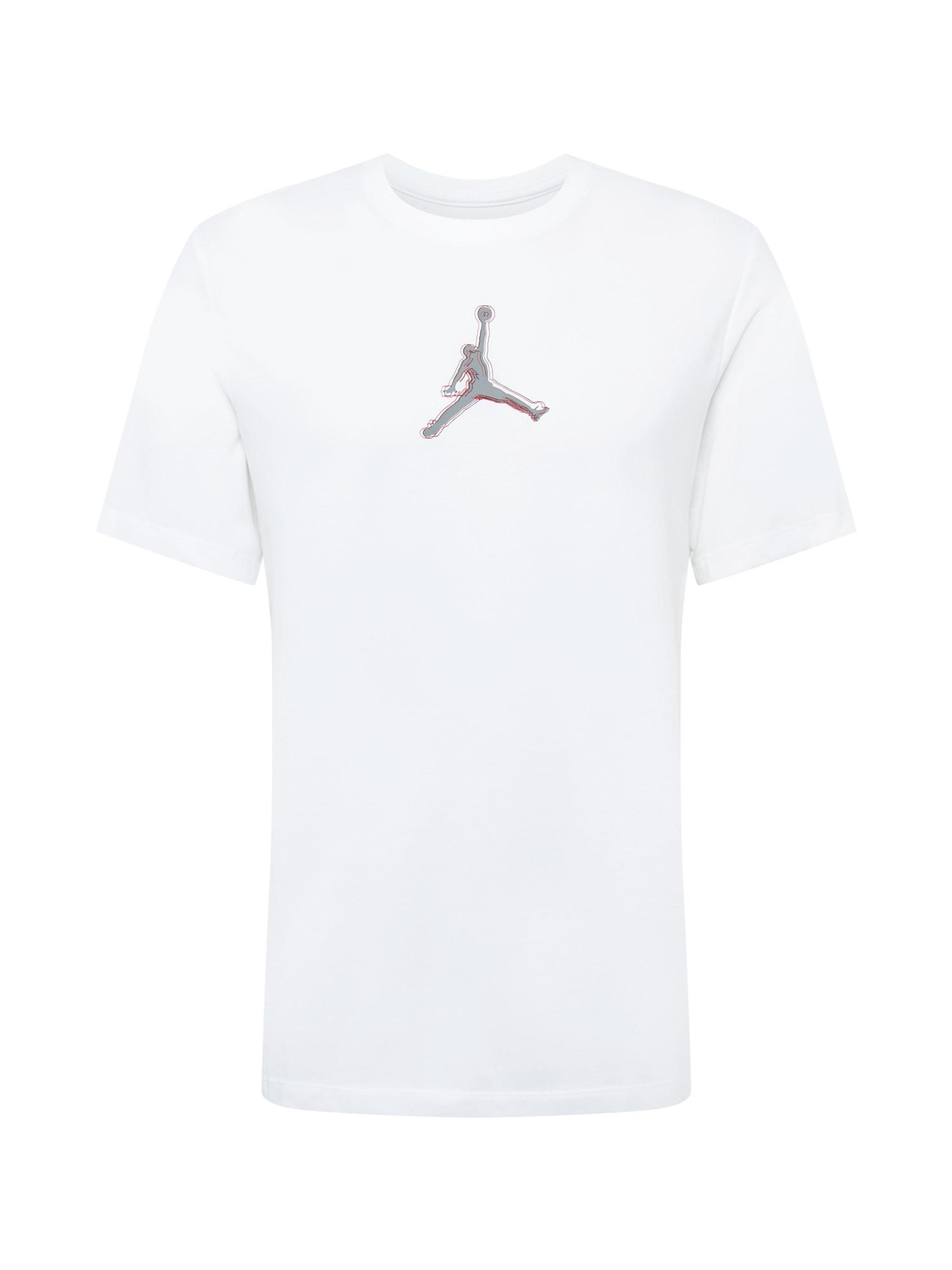 Jordan Marškinėliai balta / pilka / raudona