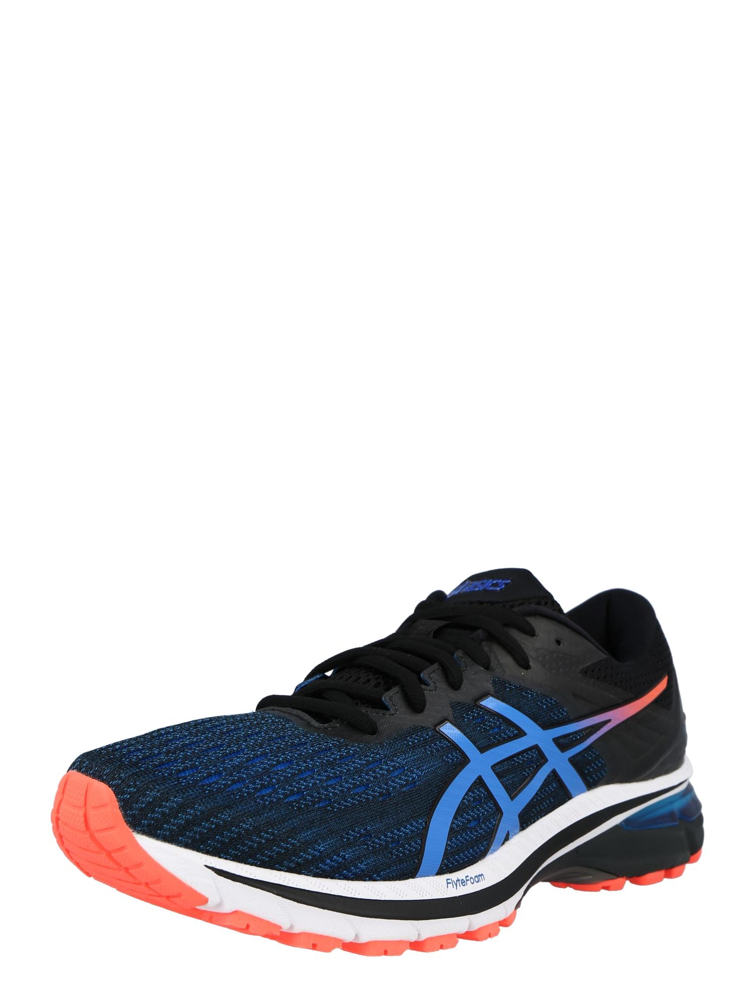 ASICS Bėgimo batai juoda / mėlyna / koralų splava