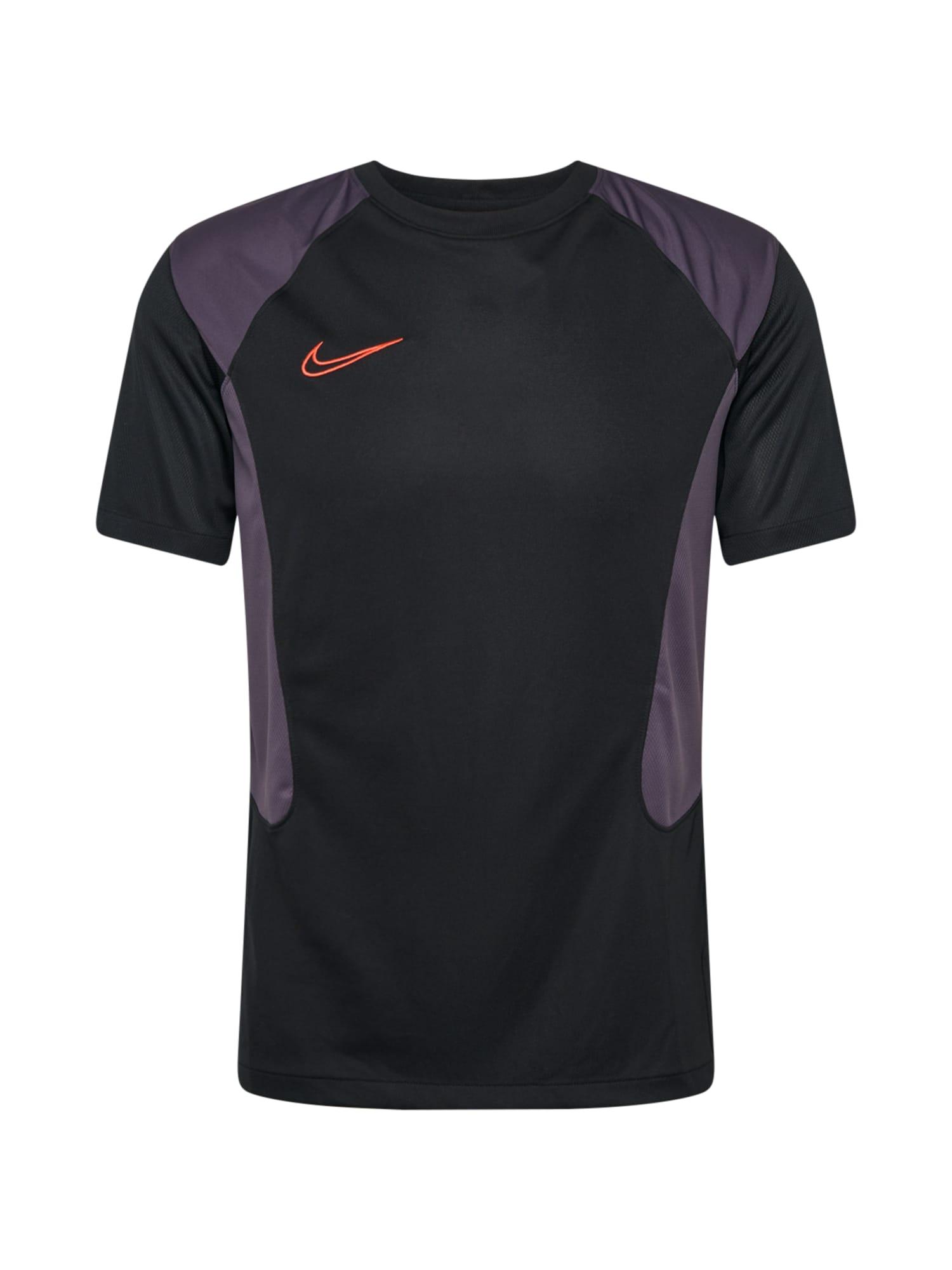 NIKE Sportiniai marškinėliai juoda / tamsiai violetinė