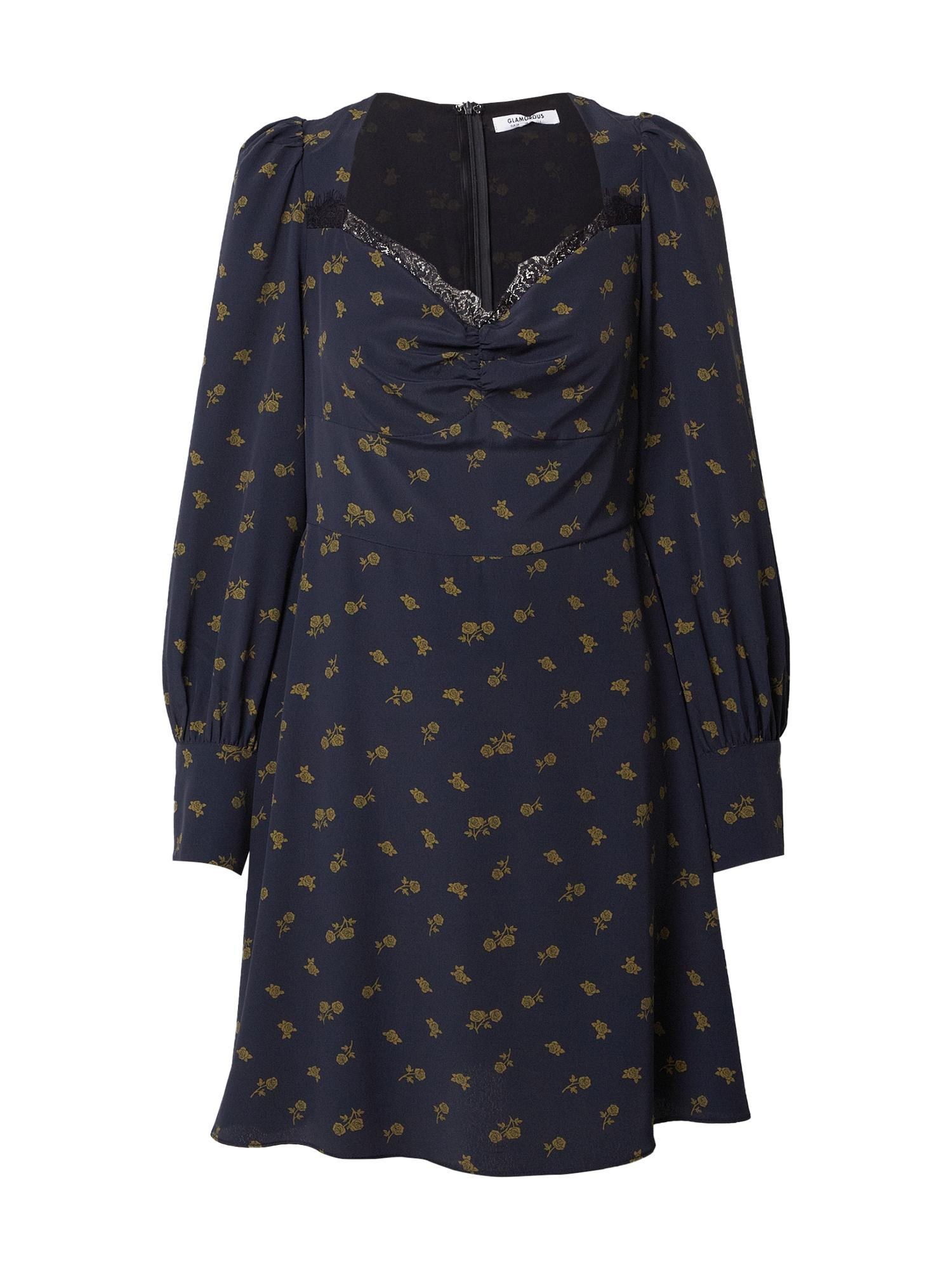 GLAMOROUS Suknelė alyvuogių spalva / juoda