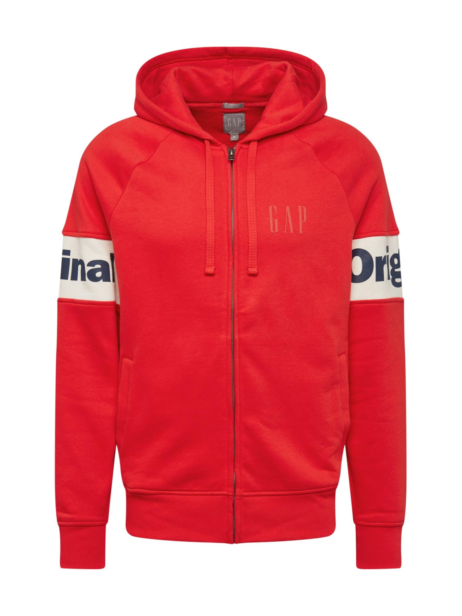 GAP Džemperis raudona / tamsiai mėlyna / balta