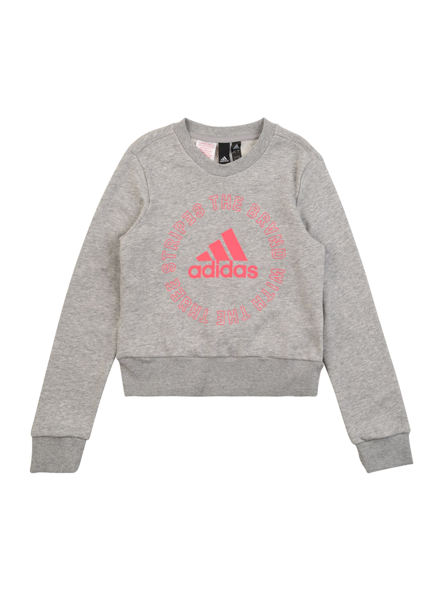 ADIDAS PERFORMANCE Sportinio tipo megztinis rožinė / margai pilka