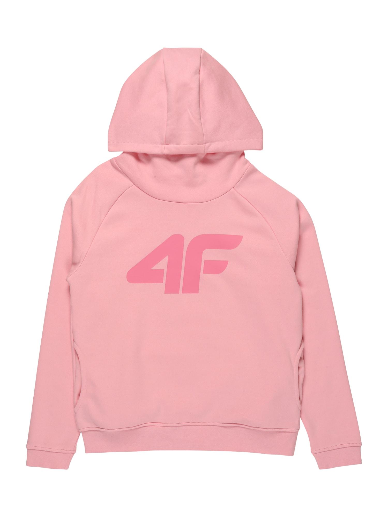 4F Sportinio tipo megztinis ryškiai rožinė spalva / rožinė